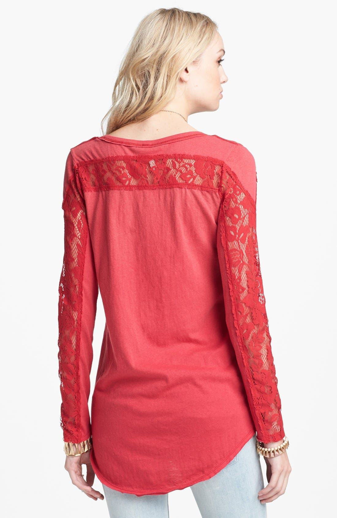 Alternate Image 2  - Free People 'Lady in Lace' Graphic Print Top