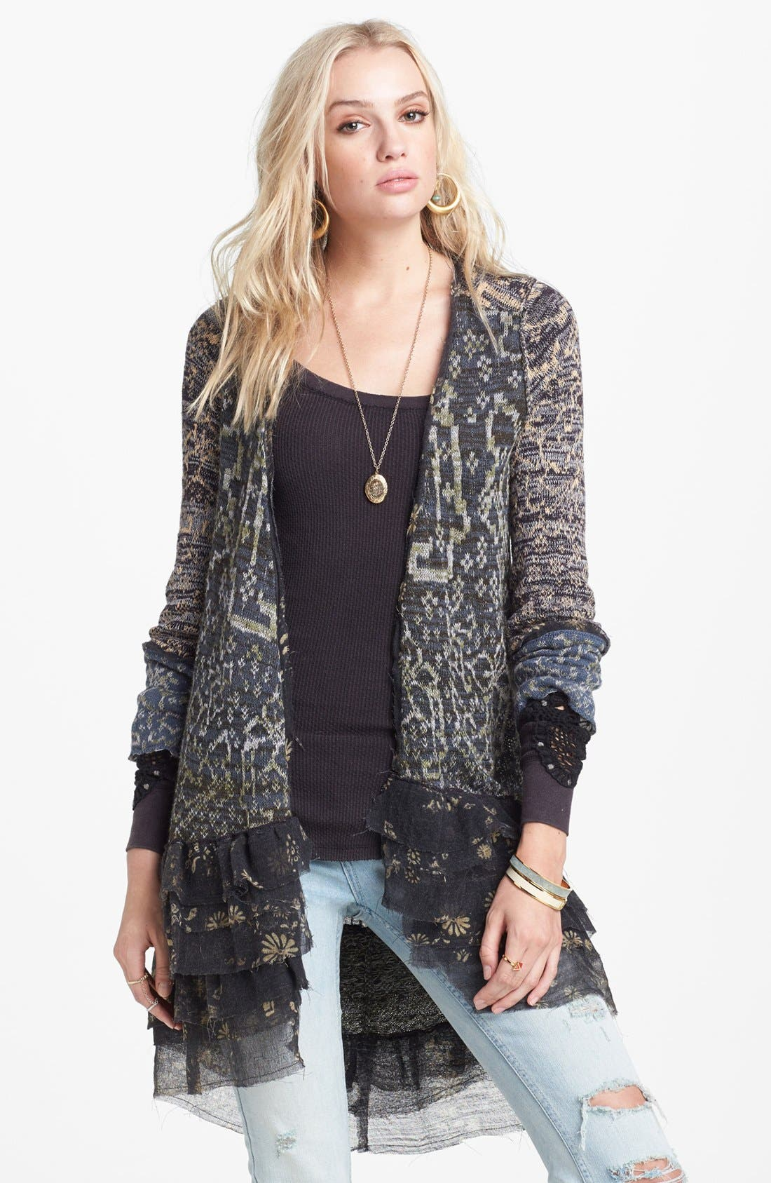 Alternate Image 1 Selected - Free People 'Caspia' Ruffle Cardigan