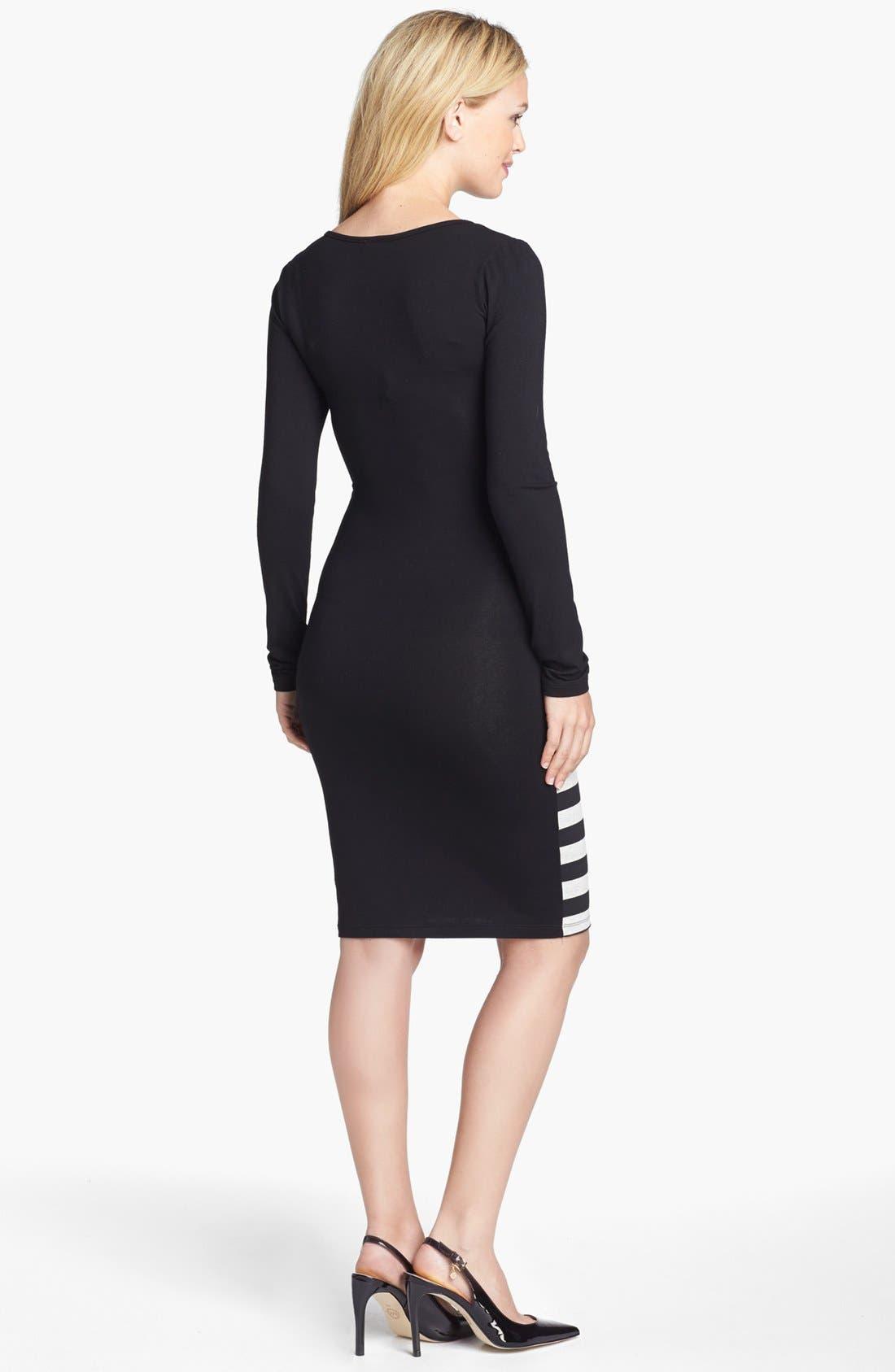 Alternate Image 2  - Nom Maternity 'Krystal' Stripe Maternity Dress
