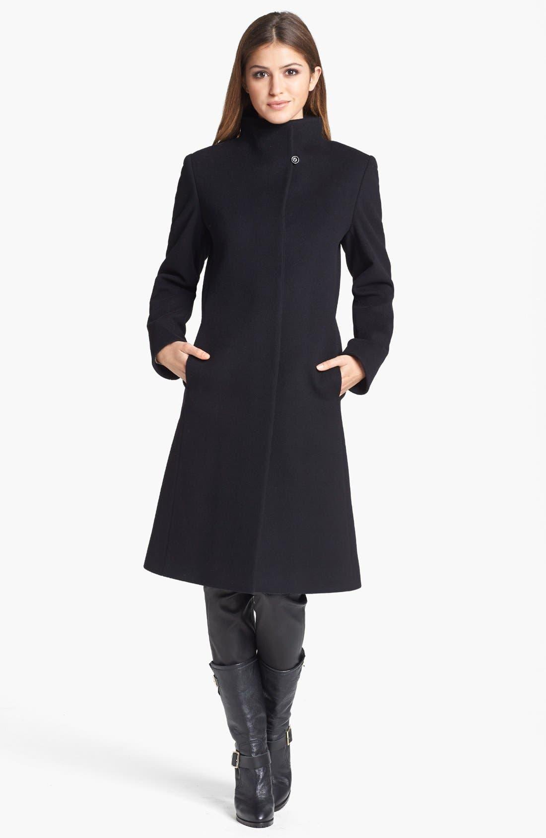 Alternate Image 1 Selected - Cinzia Rocca Due Funnel Neck Wool Blend Coat