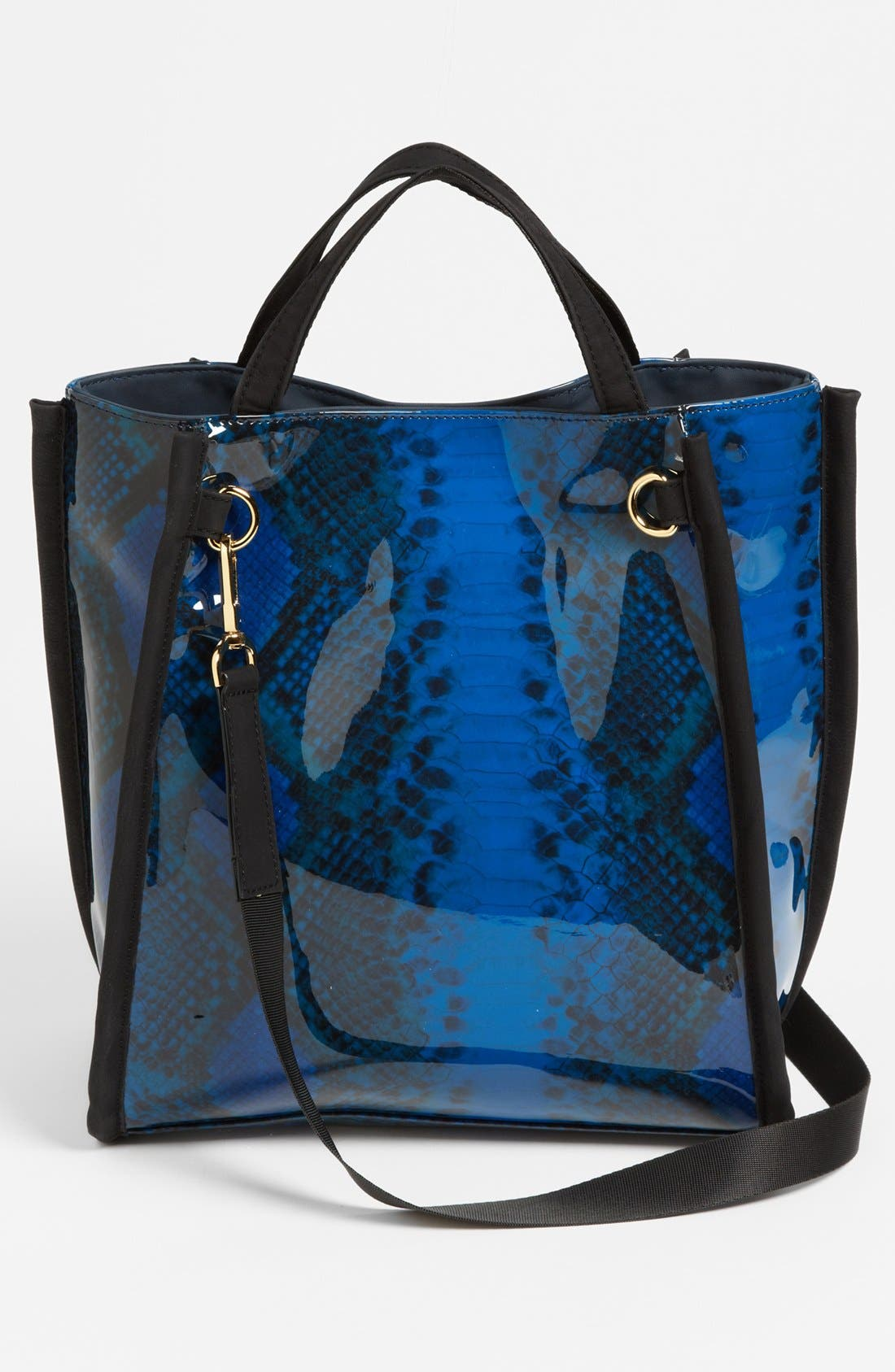 Alternate Image 4  - French Connection Snake Print Tote