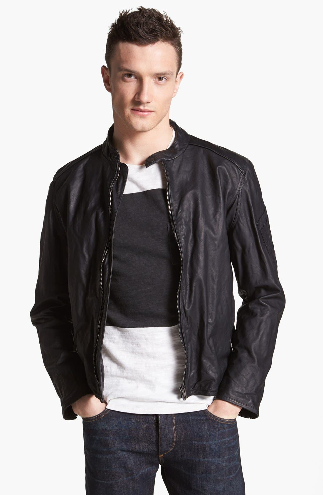 Alternate Image 1 Selected - rag & bone 'Macclesfield' Kangaroo Leather Jacket