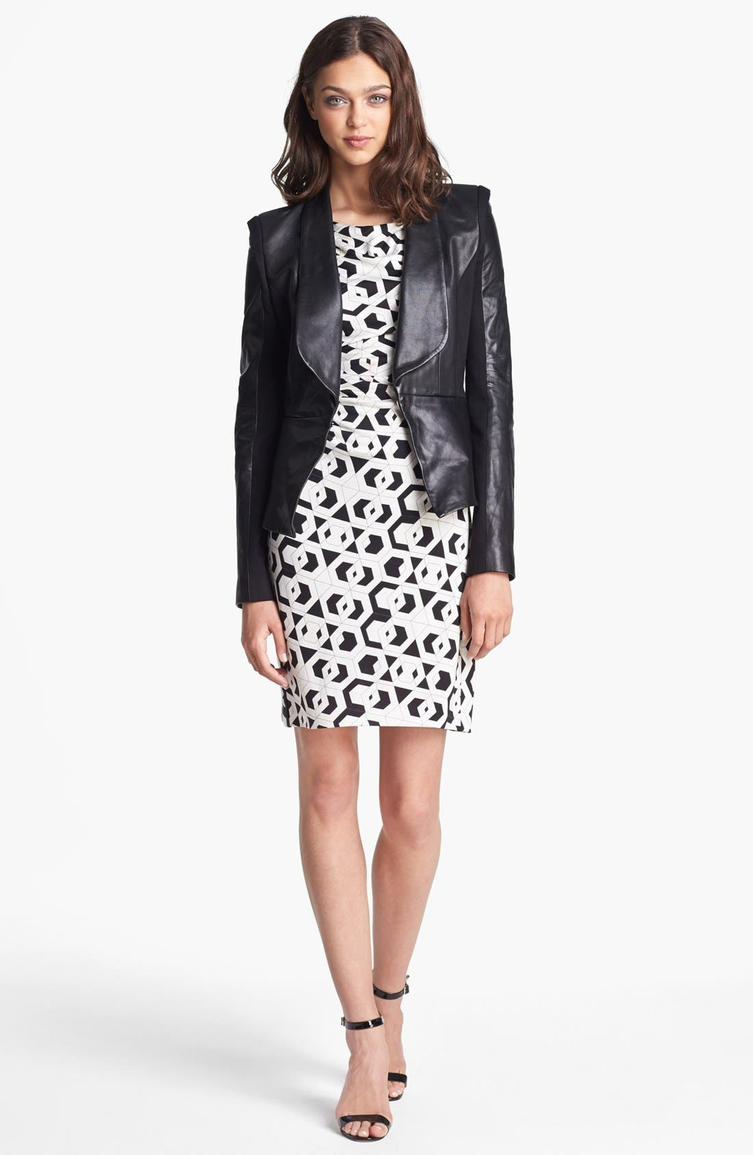 Alternate Image 1 Selected - Rebecca Minkoff 'Rebecca' Leather & Knit Jacket