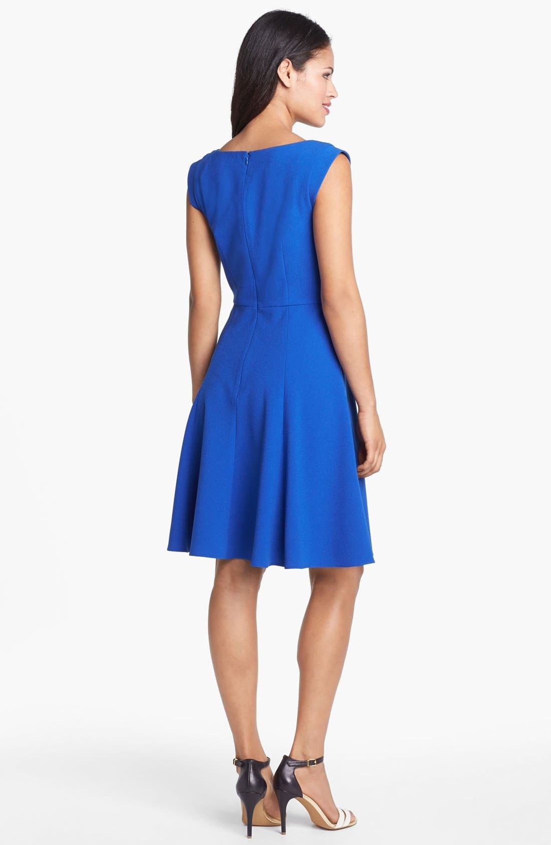 Alternate Image 2  - Ivy & Blu for Maggy Boutique Fit & Flare Dress (Petite)