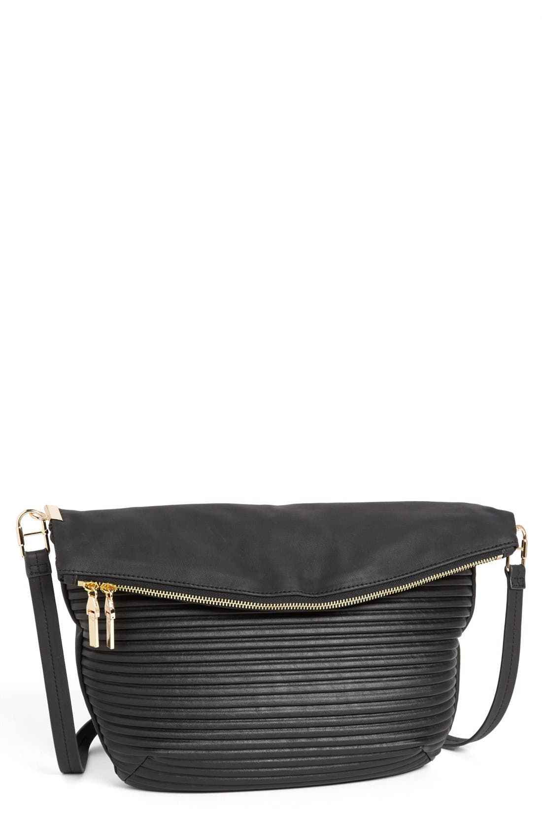 Main Image - French Connection Faux Leather Shoulder Bag