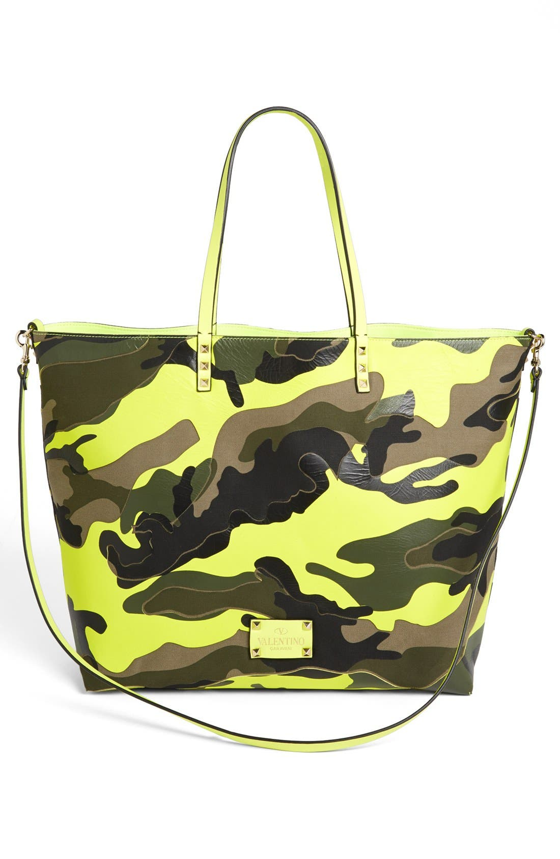Alternate Image 1 Selected - Valentino 'Rockstud - Camo' Reversible Tote