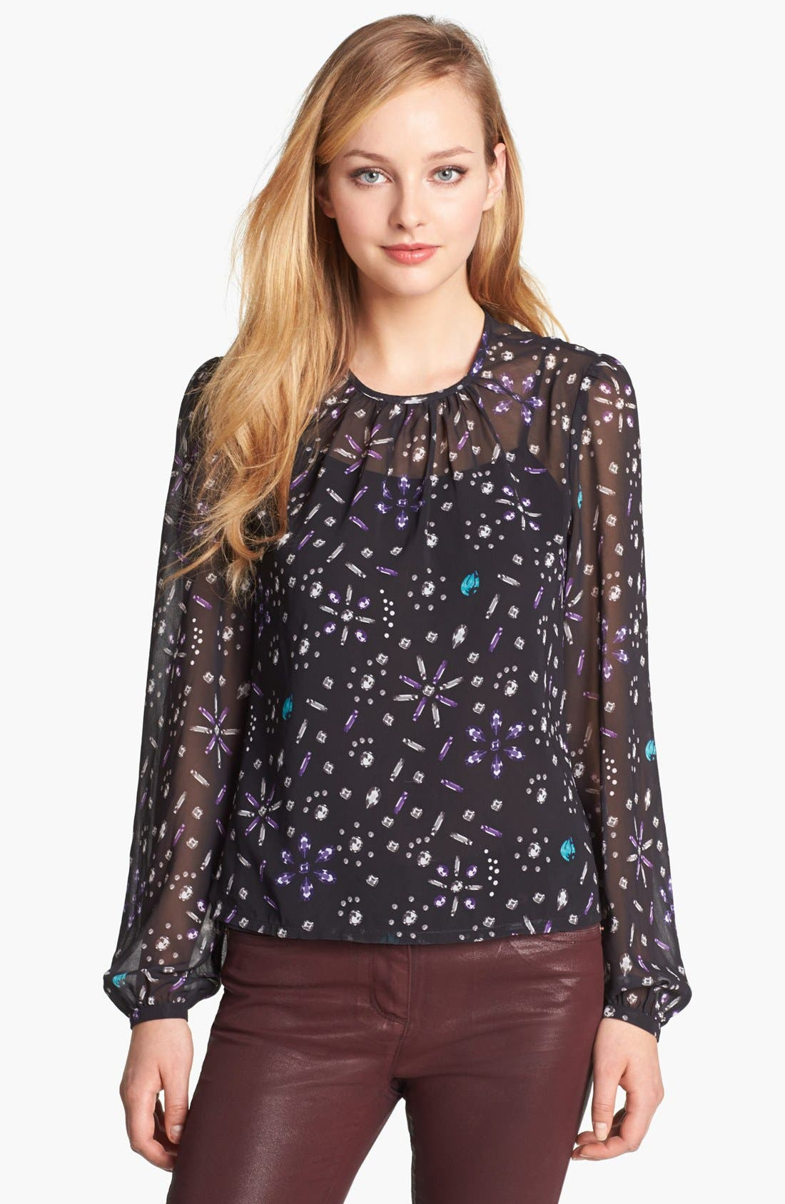 Alternate Image 1 Selected - Vince Camuto Jewel Print Blouse