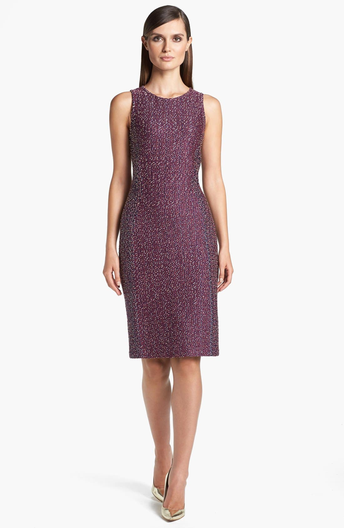 Alternate Image 1 Selected - St. John Collection Dash Tweed Knit Sheath Dress