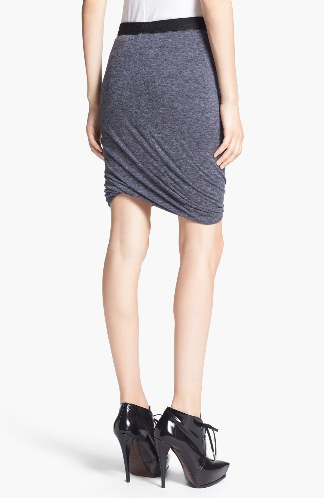 Alternate Image 3  - T by Alexander Wang Twisted Hem Jersey Skirt