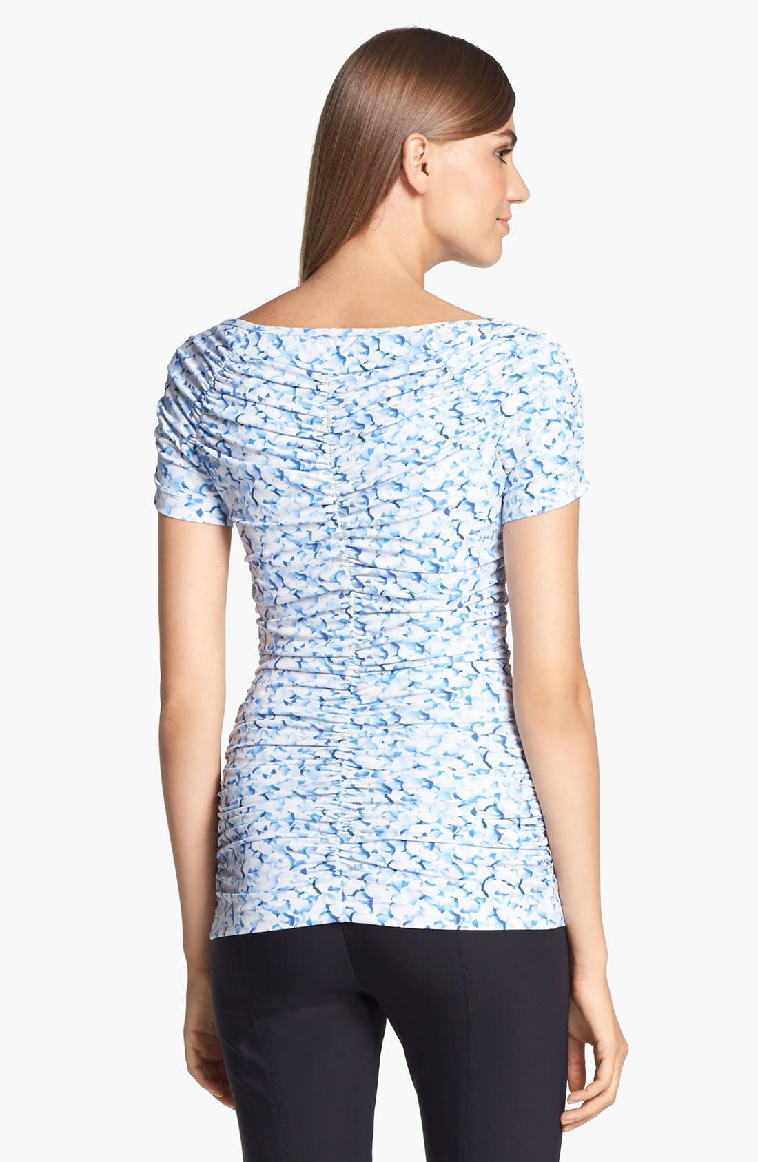 Alternate Image 4  - St. John Collection Abstract Print Shirred Top