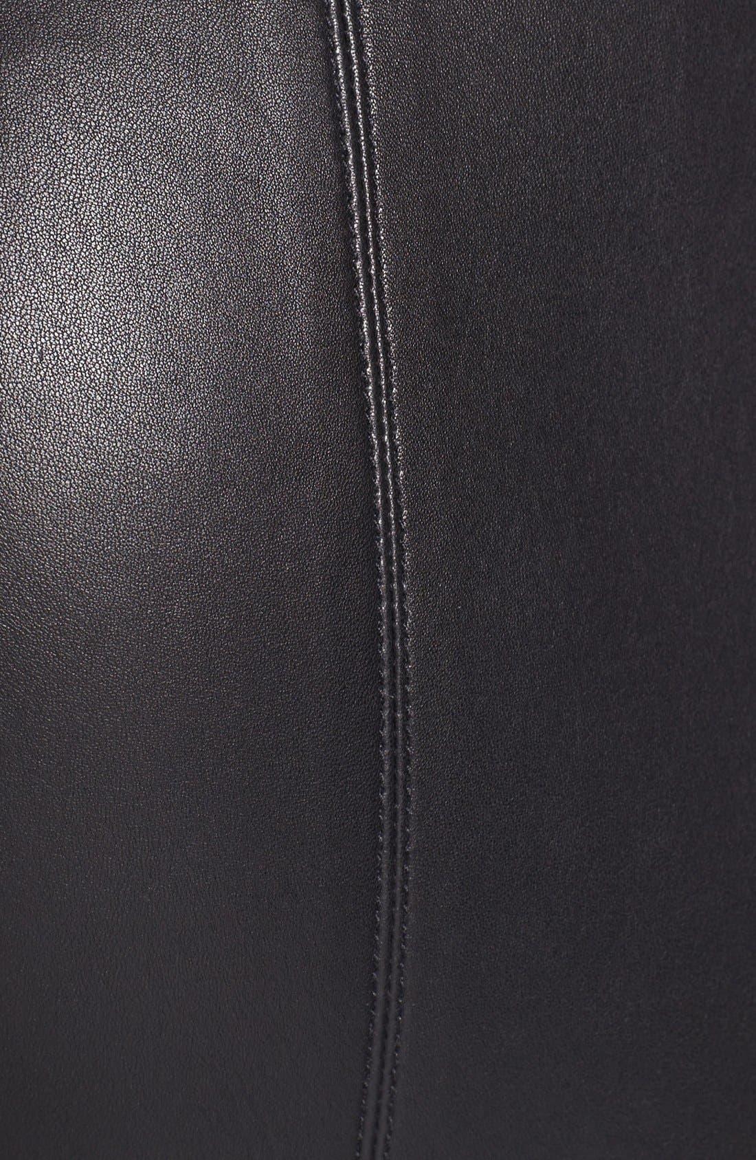 Alternate Image 3  - Miss Wu Leather Leggings (Nordstrom Exclusive)