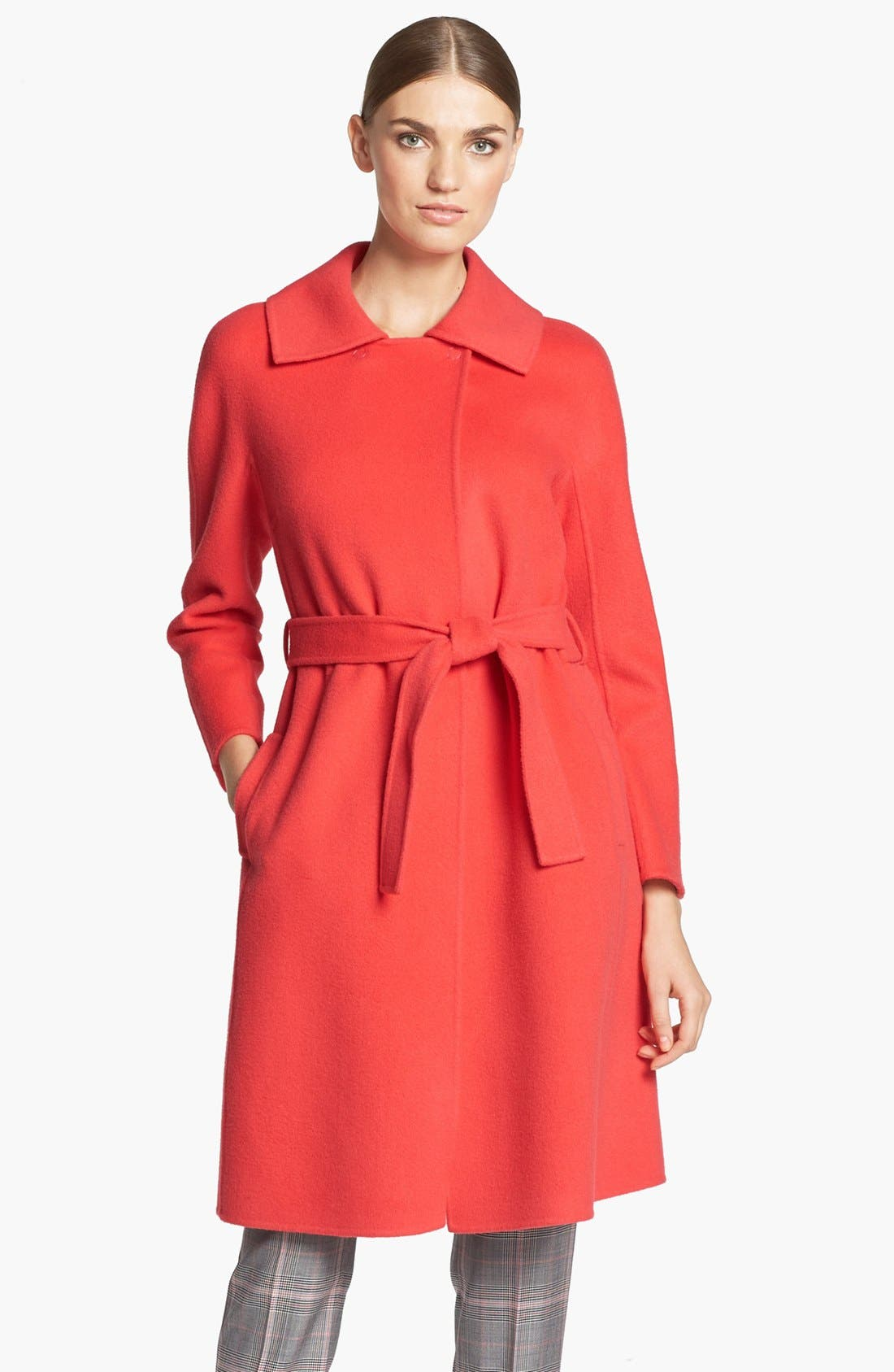 Main Image - St. John Collection Dolman Sleeve Double Face Coat