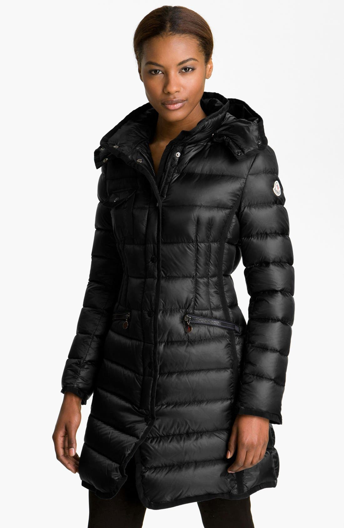 Main Image - Moncler 'Hermine' Long Down Coat