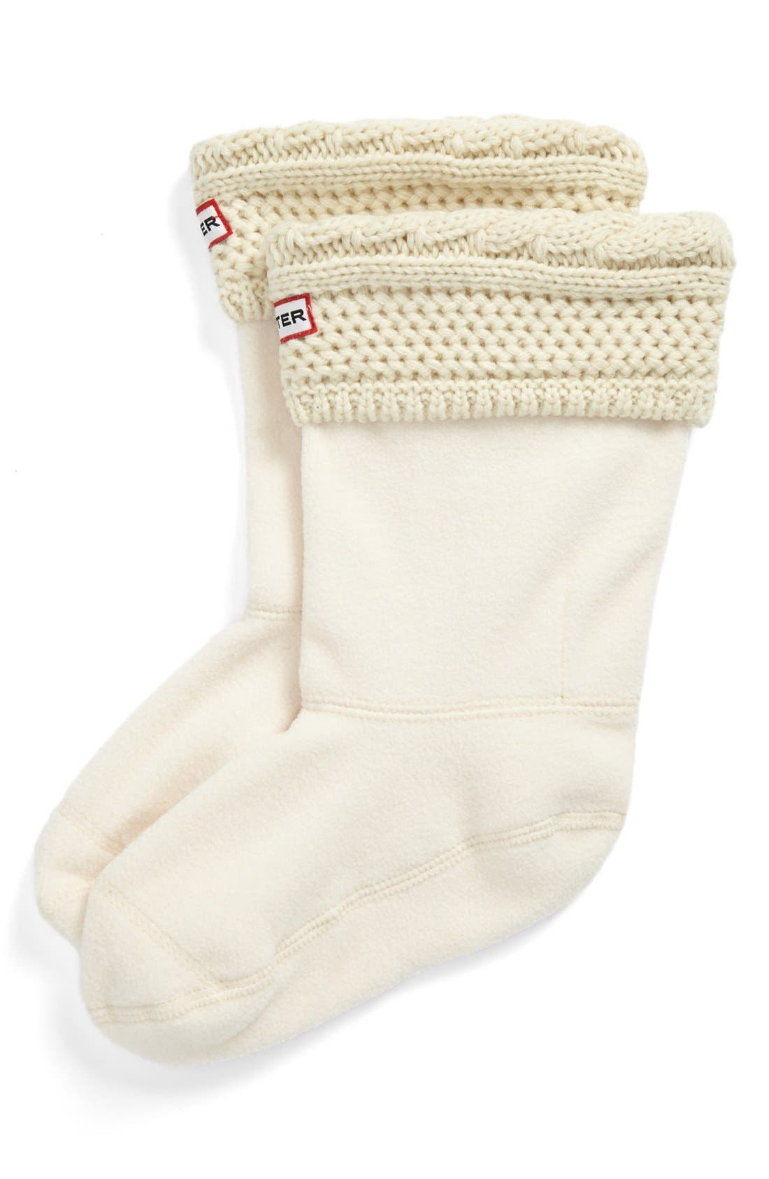 Main Image - Hunter Short 'Moss' Knit Welly Socks