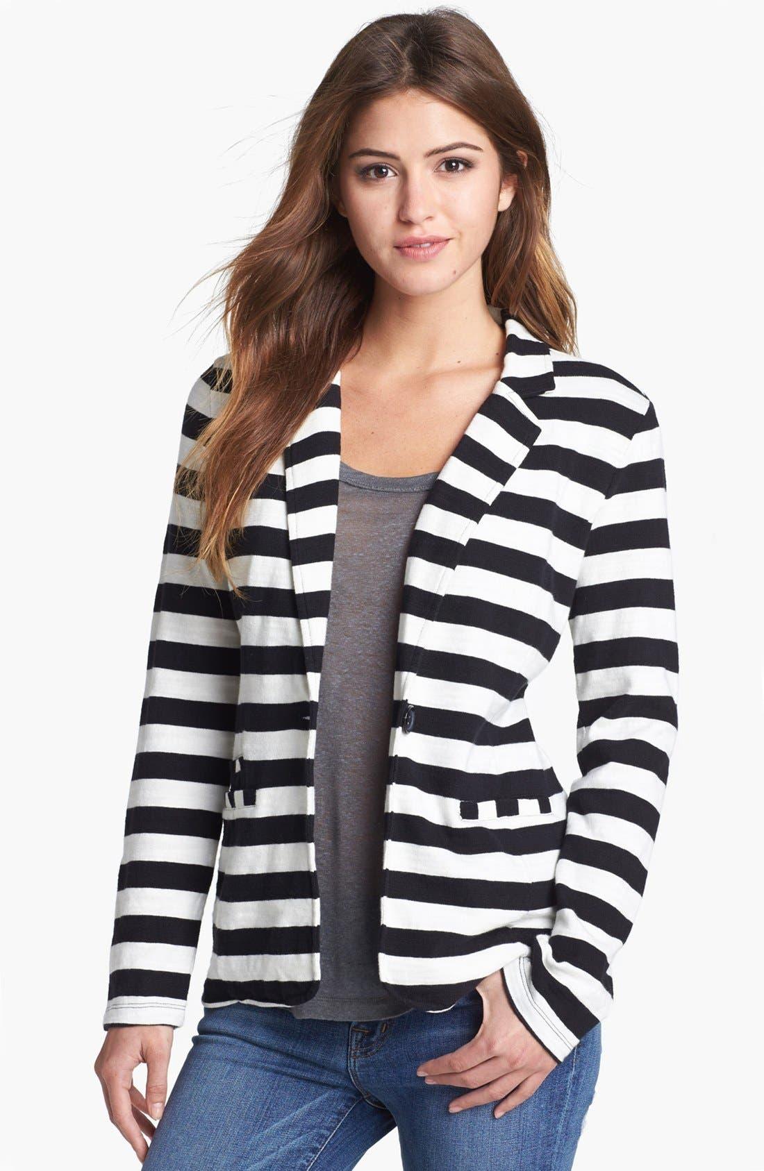 Alternate Image 1 Selected - Caslon® Roll Sleeve Knit Blazer