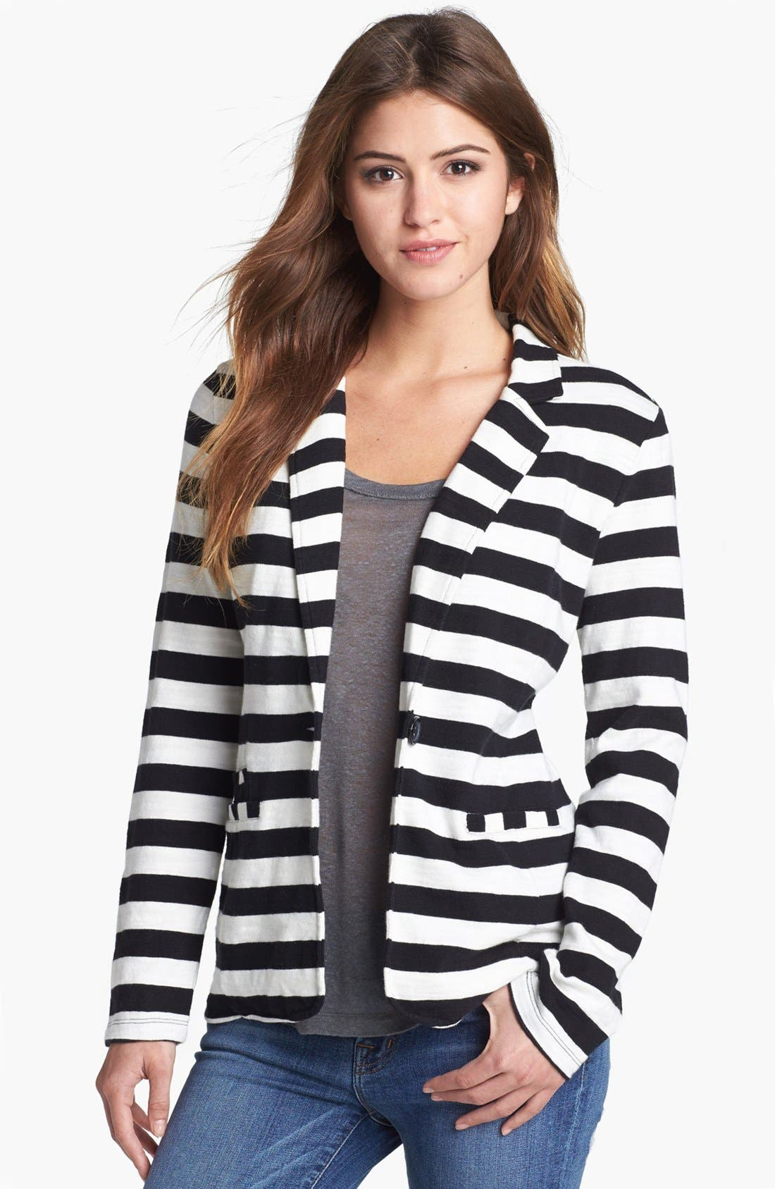 Main Image - Caslon® Roll Sleeve Knit Blazer