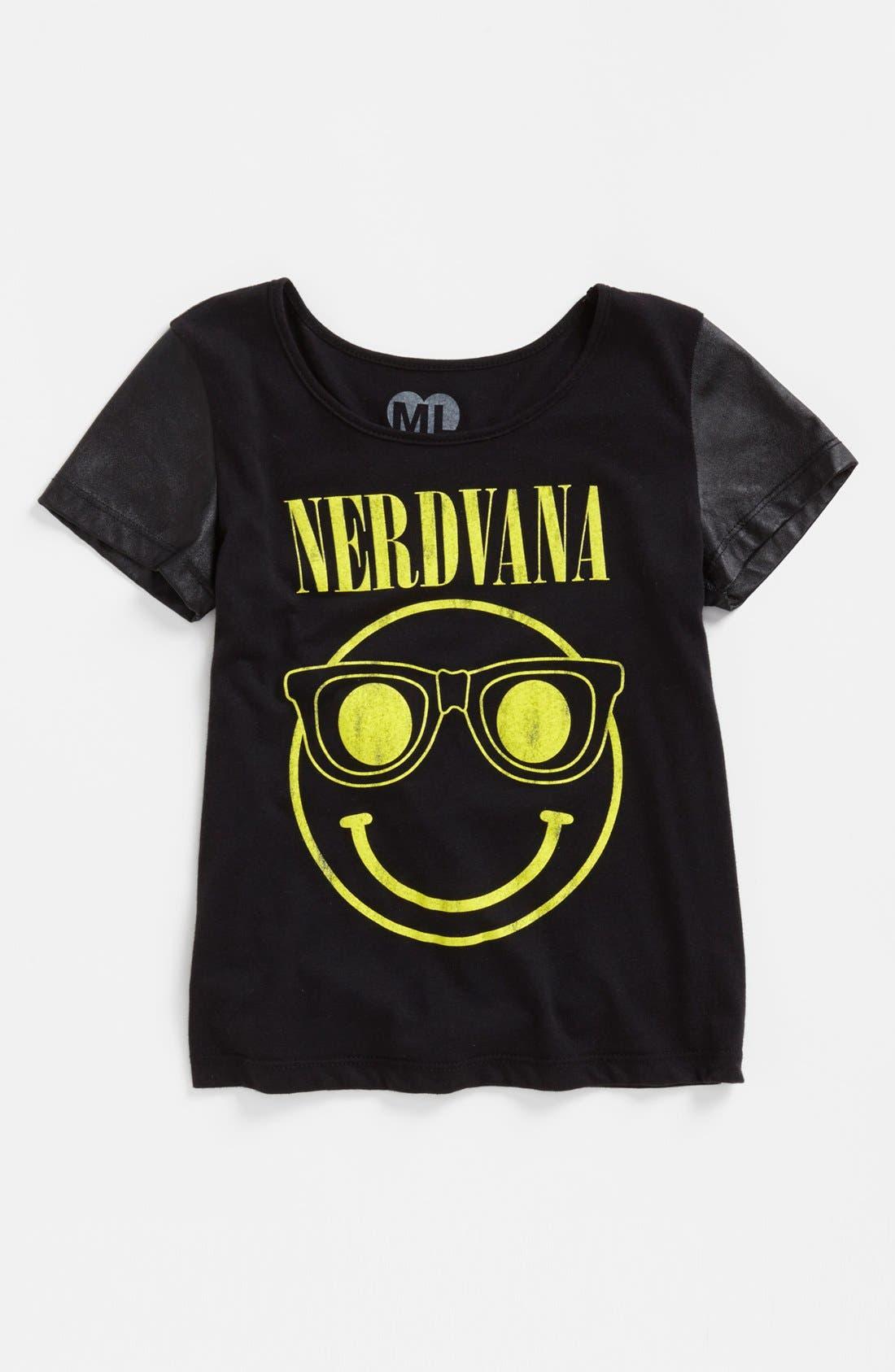 Alternate Image 1 Selected - Modern Lux 'Nerdvana' Graphic Tee (Big Girls)