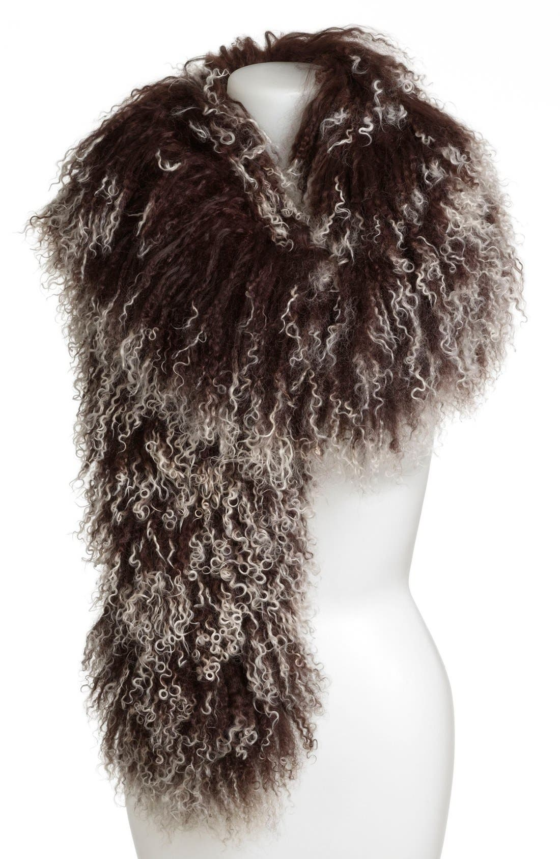 Alternate Image 1 Selected - Toria Rose Genuine Lamb's Fur Boa