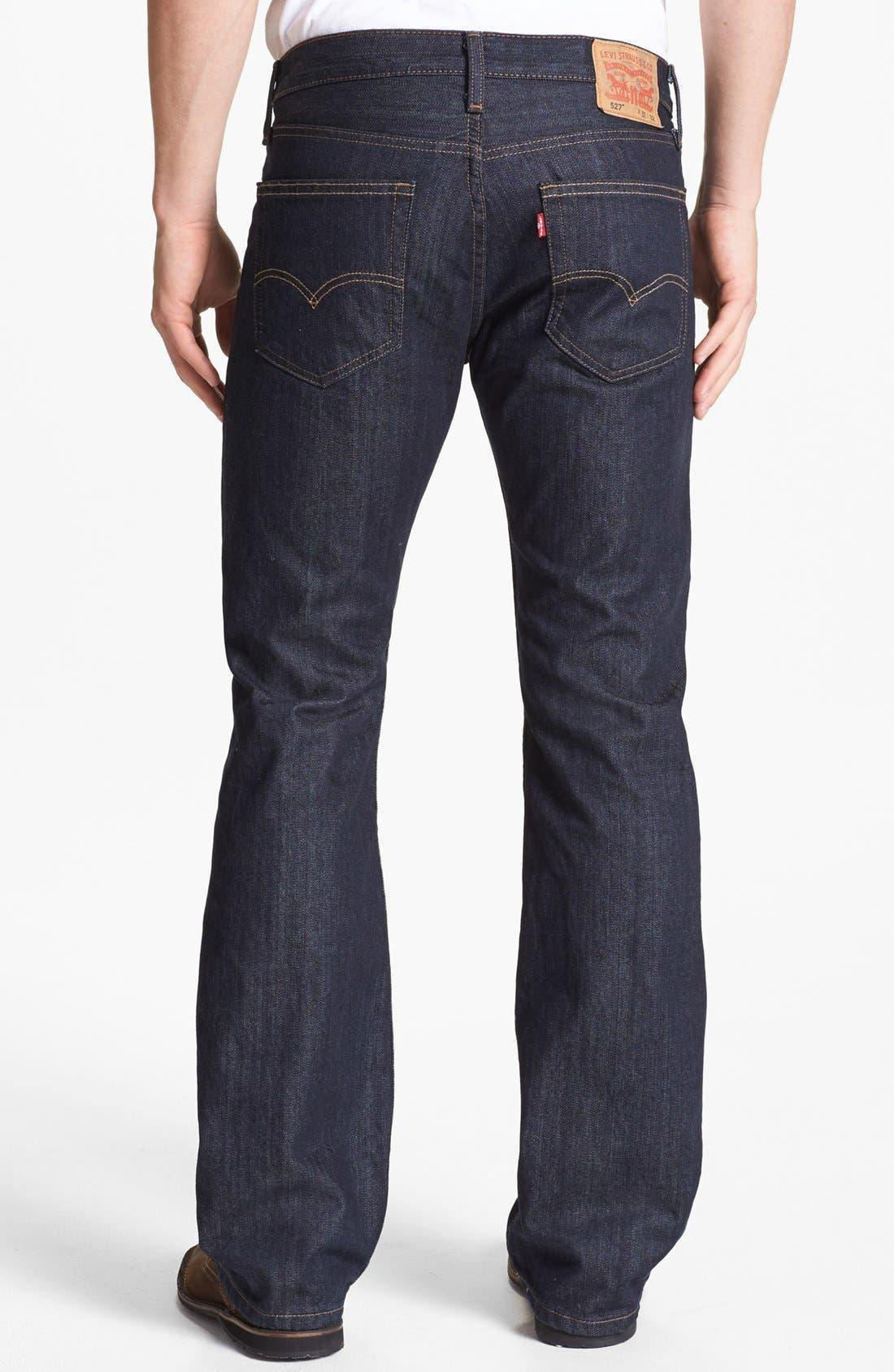 Main Image - Levi's® '527™' Bootcut Jeans (Tumbled Rigid)