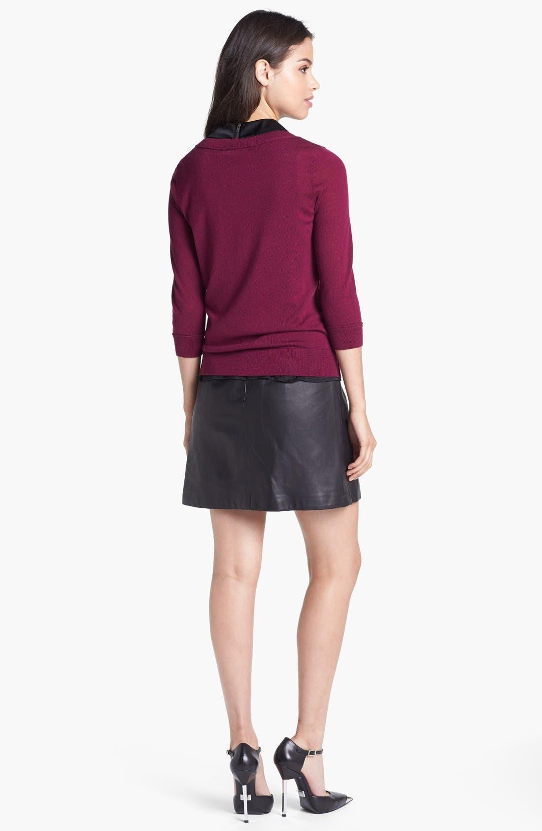 Alternate Image 5  - Halogen® Three Quarter Sleeve Crewneck Sweater