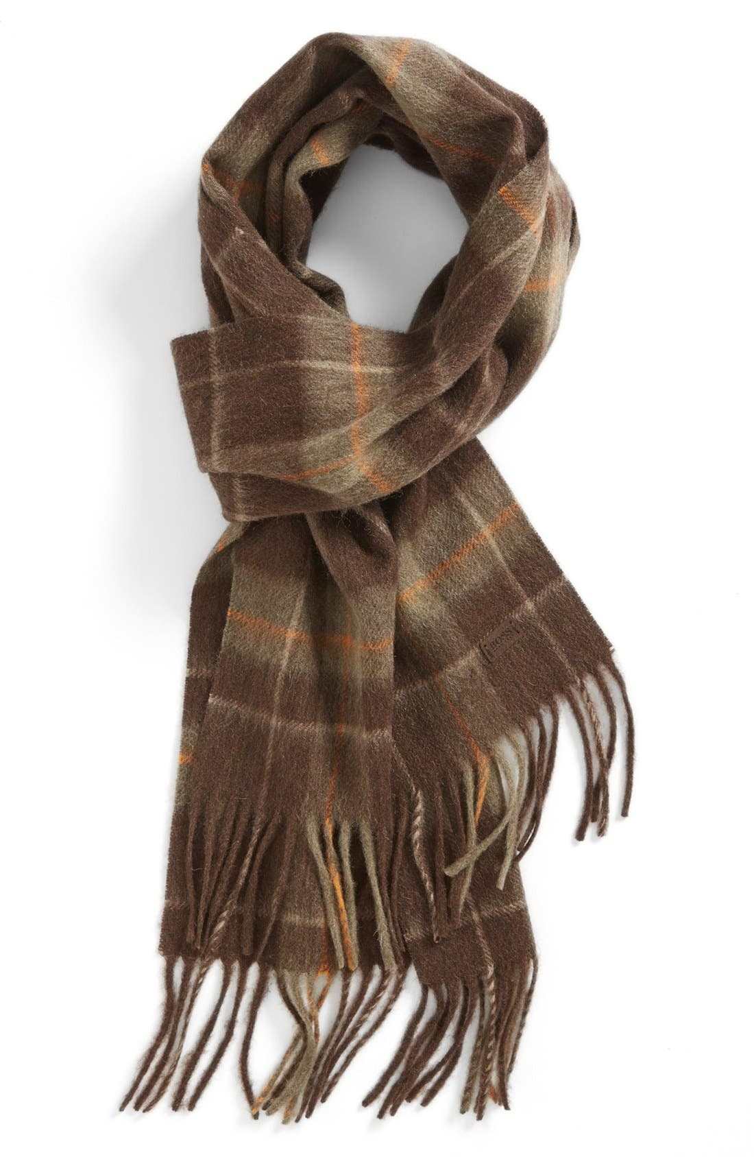 Alternate Image 1 Selected - BOSS HUGO BOSS 'Heivo' Plaid Scarf