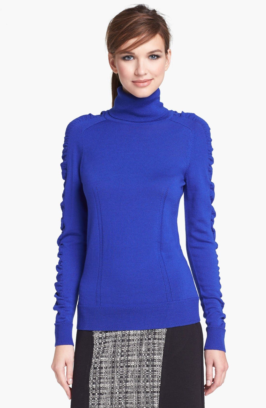 Alternate Image 1 Selected - Milly Merino Wool Turtleneck Sweater