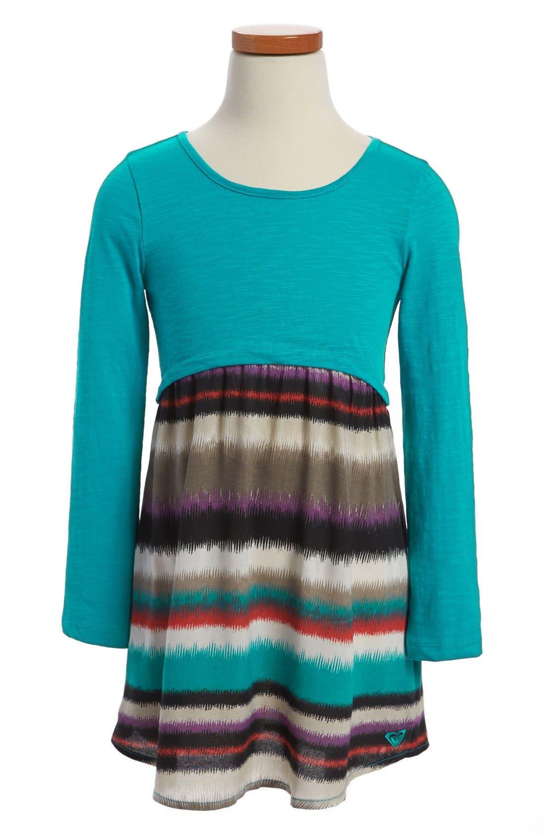 Alternate Image 1 Selected - Roxy Striped Skirt Dress (Toddler Girls)