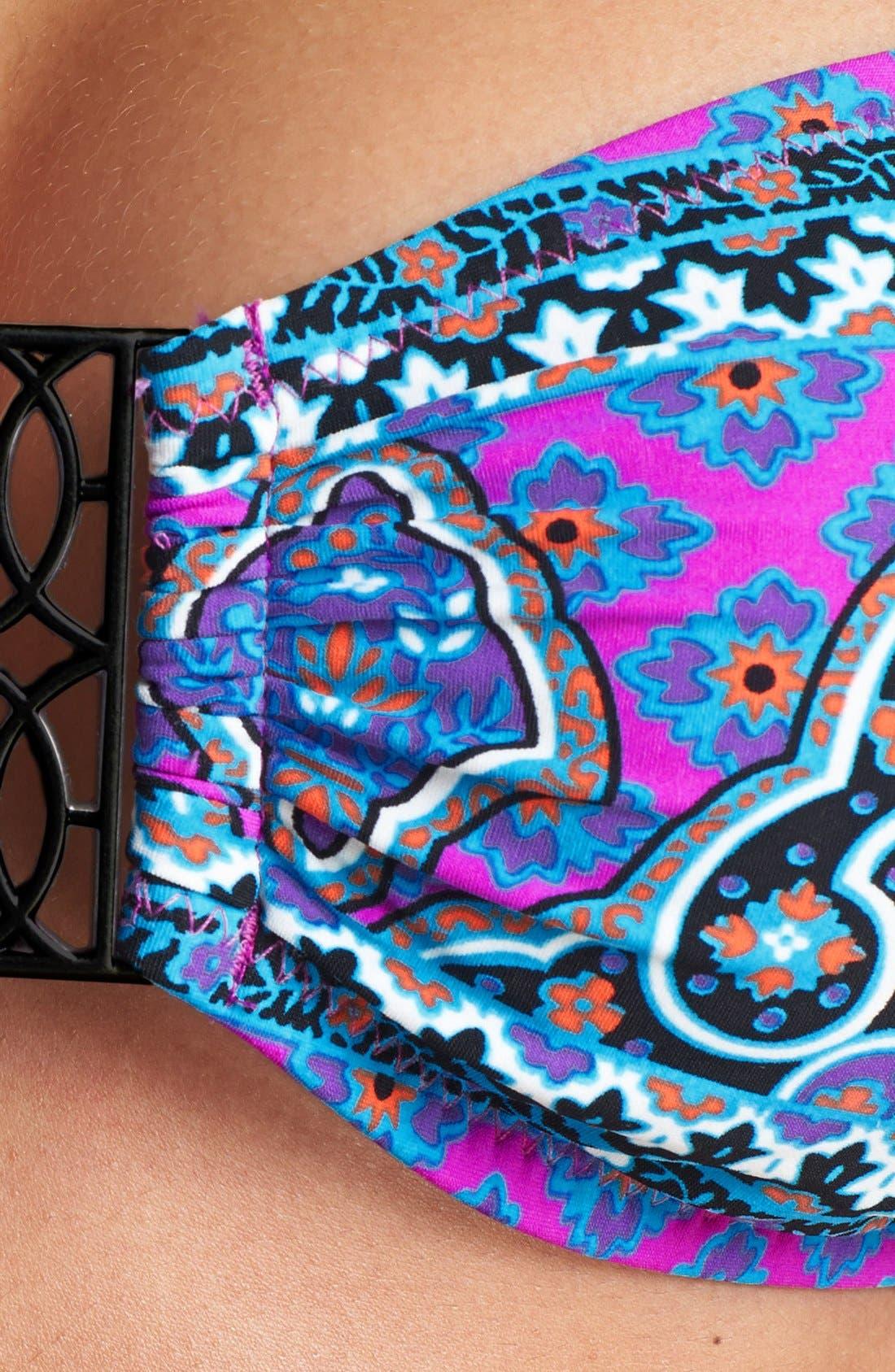 Alternate Image 5  - Nanette Lepore 'Moroccan Medallion Tease' Bandeau Bikini Top