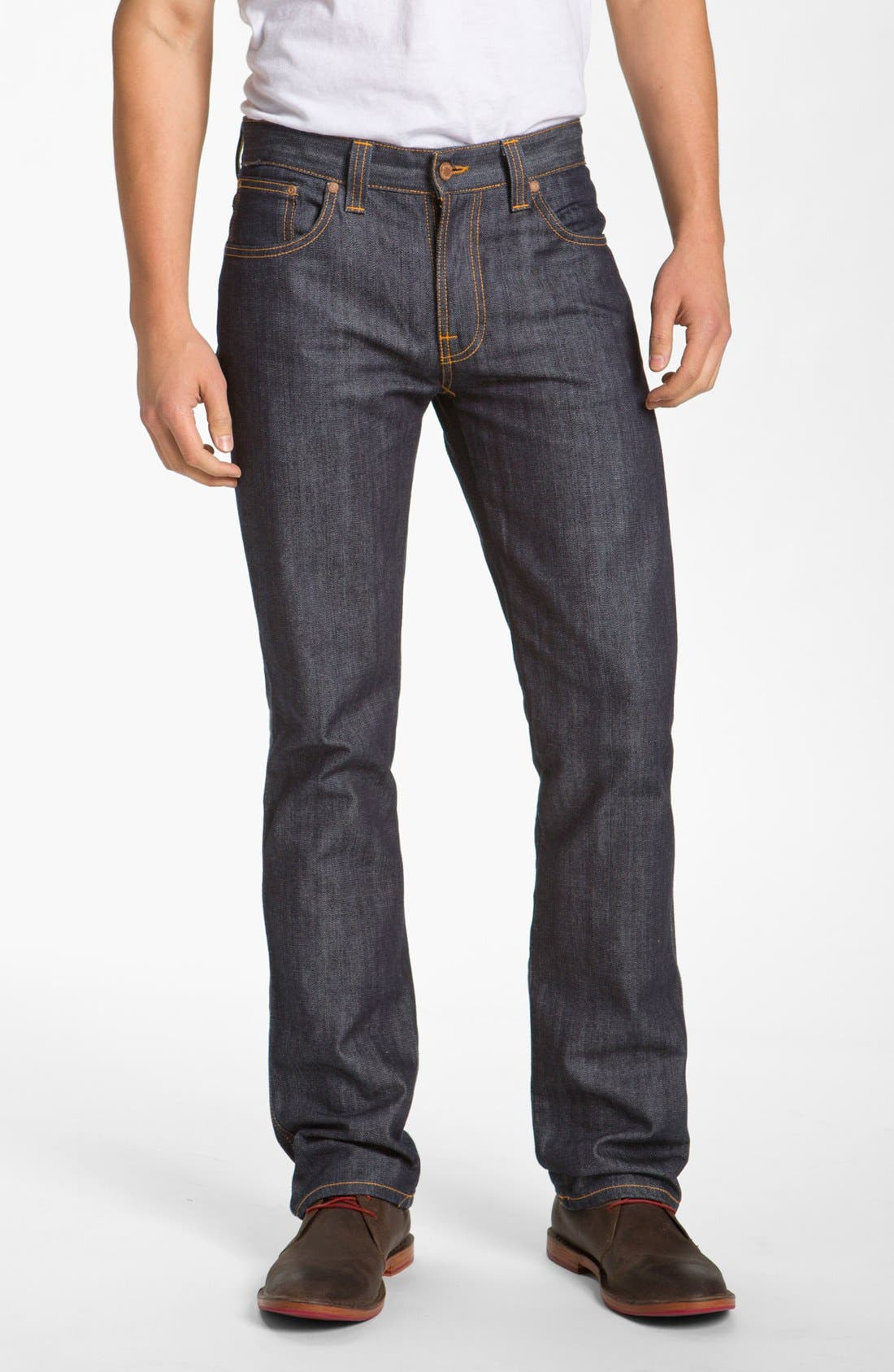Alternate Image 1 Selected - Nudie Jeans 'Slim Jim' Slim Fit Jeans (Organic Dry Broken Twill)