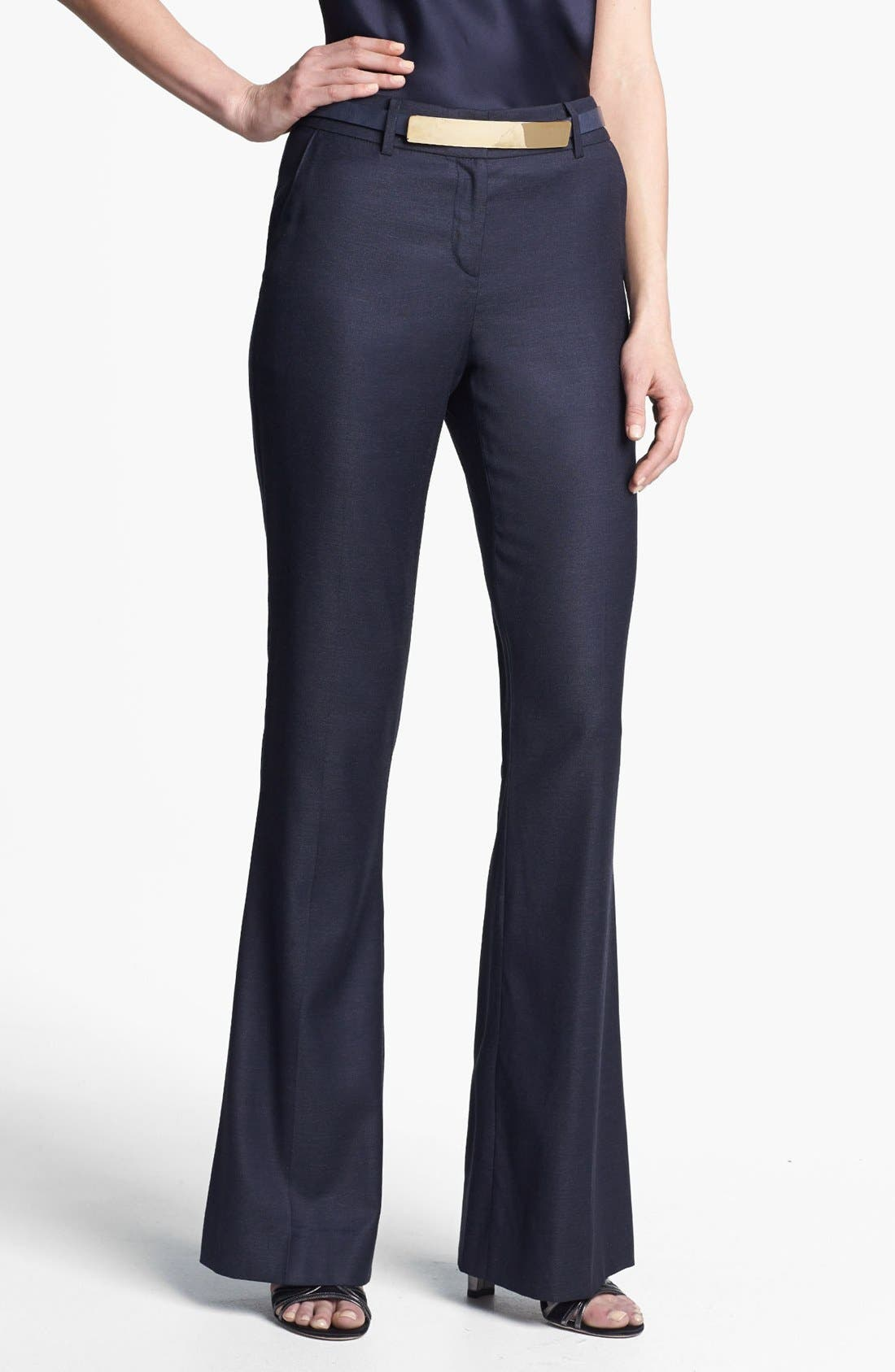 Main Image - St. John Collection Narrow Bootcut Shimmer Twill Pants