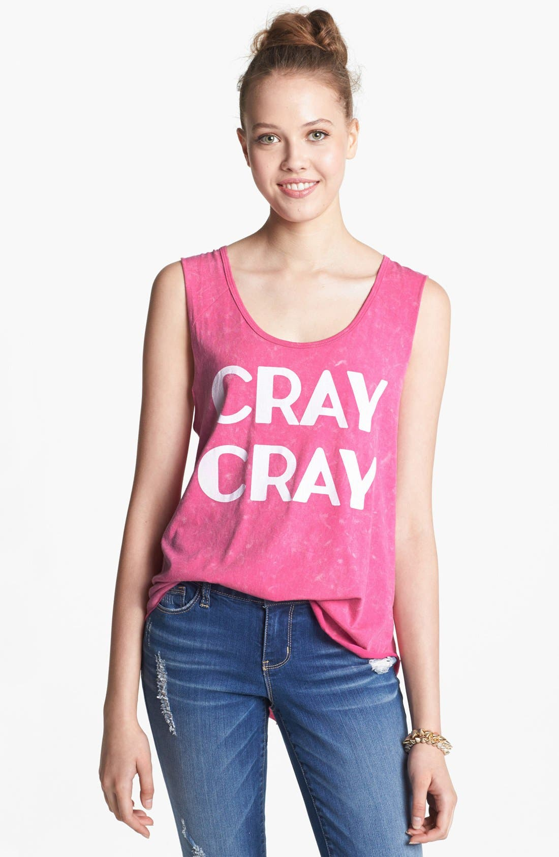 Alternate Image 1 Selected - Project Social T 'Cray Cray' Graphic Muscle Tank (Juniors)
