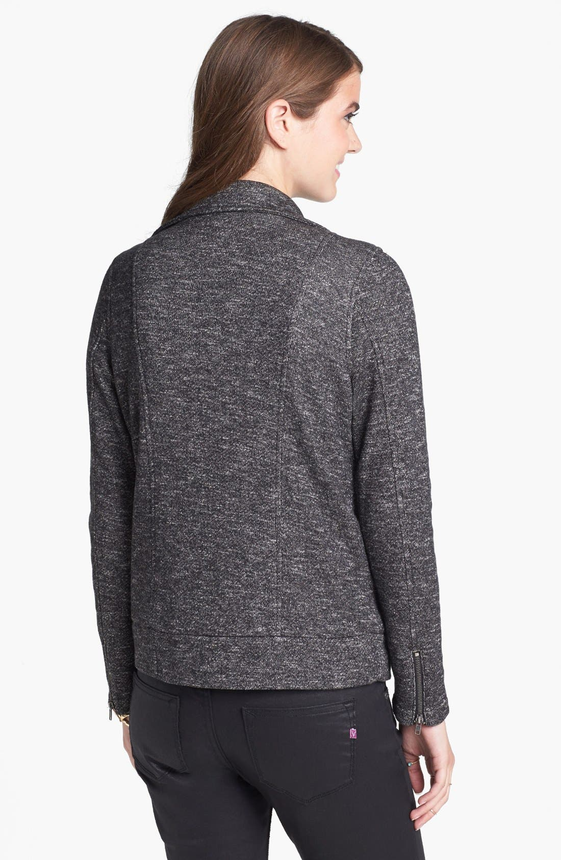 Alternate Image 2  - Staccato Knit Moto Jacket (Juniors)