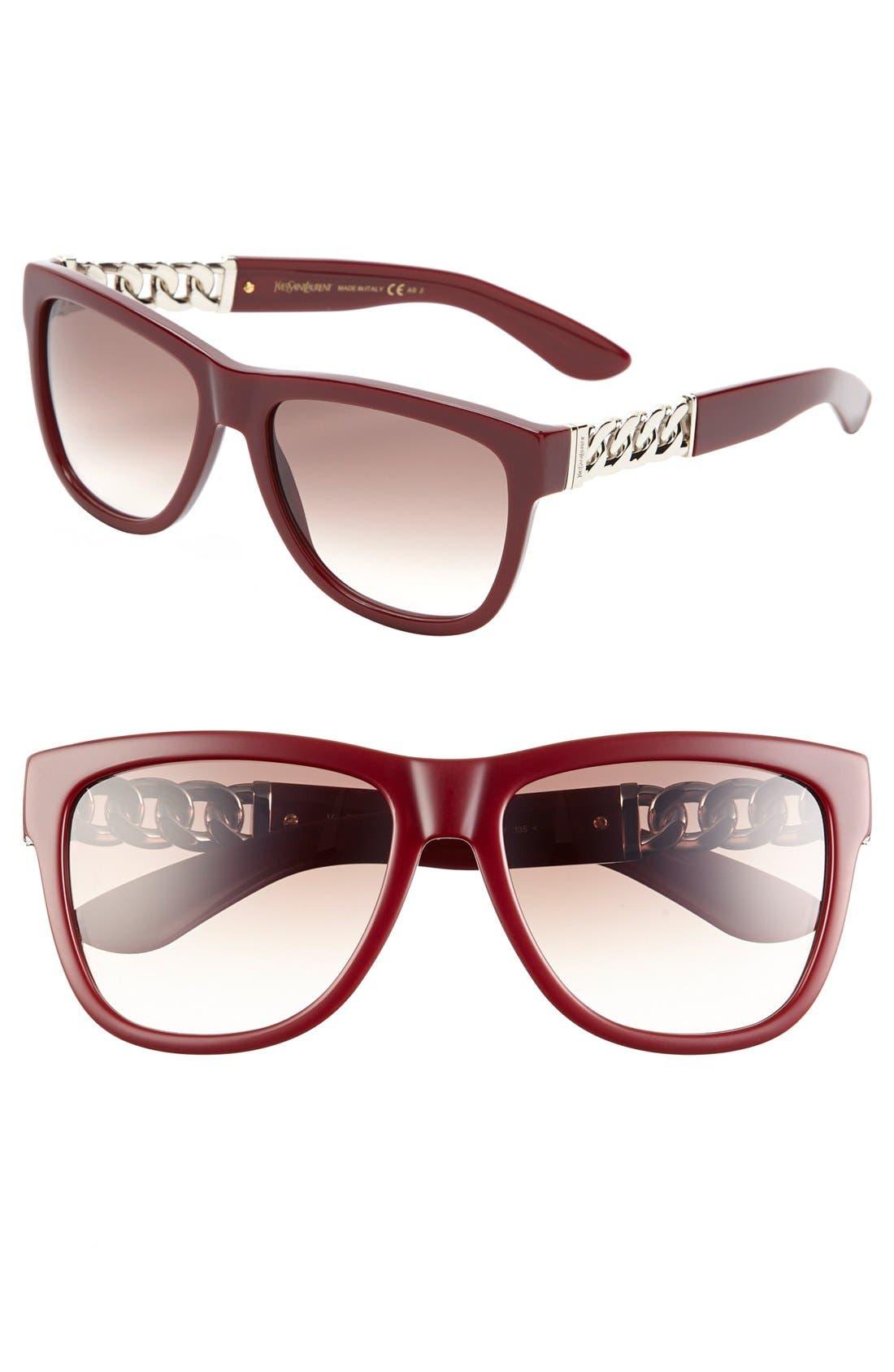 Alternate Image 1 Selected - Saint Laurent 56mm Oversized Sunglasses