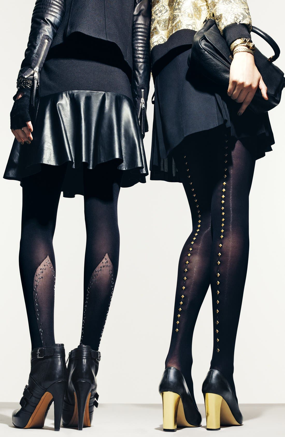 Alternate Image 4  - DKNY Stud Embellished Tights