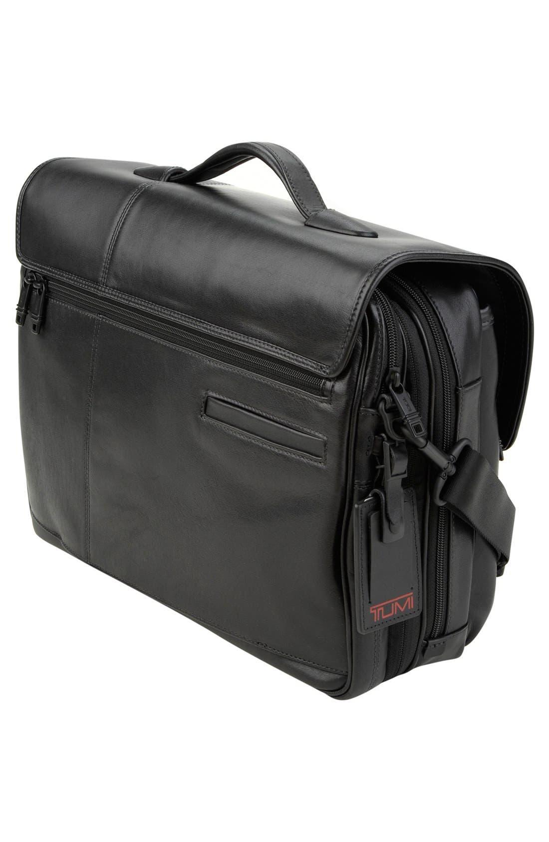 Alternate Image 2  - Tumi 'Alpha' Split Flap Expandable Leather Briefcase