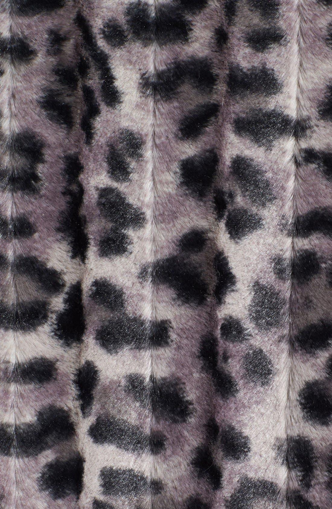 Alternate Image 3  - Damselle Ruffle Trim Faux Fur Jacket (Online Only)