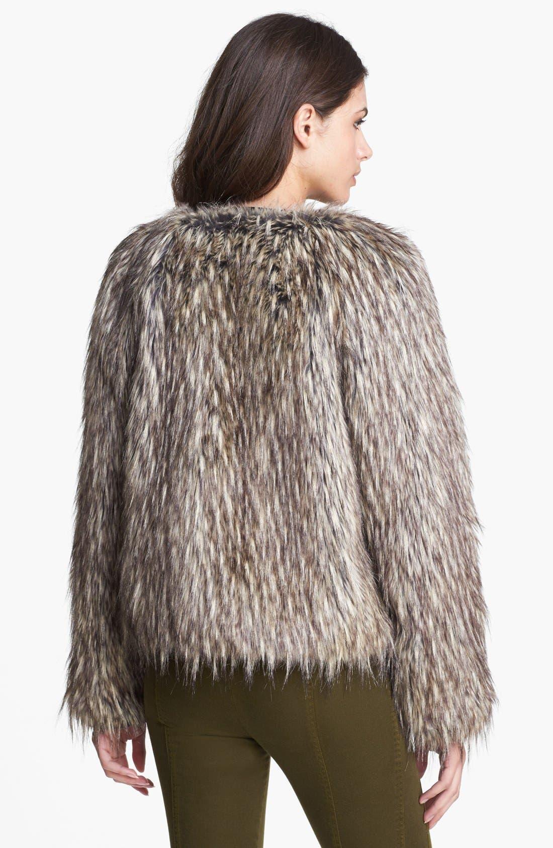 Alternate Image 2  - Nanette Lepore 'Vagabond' Faux Fur Jacket