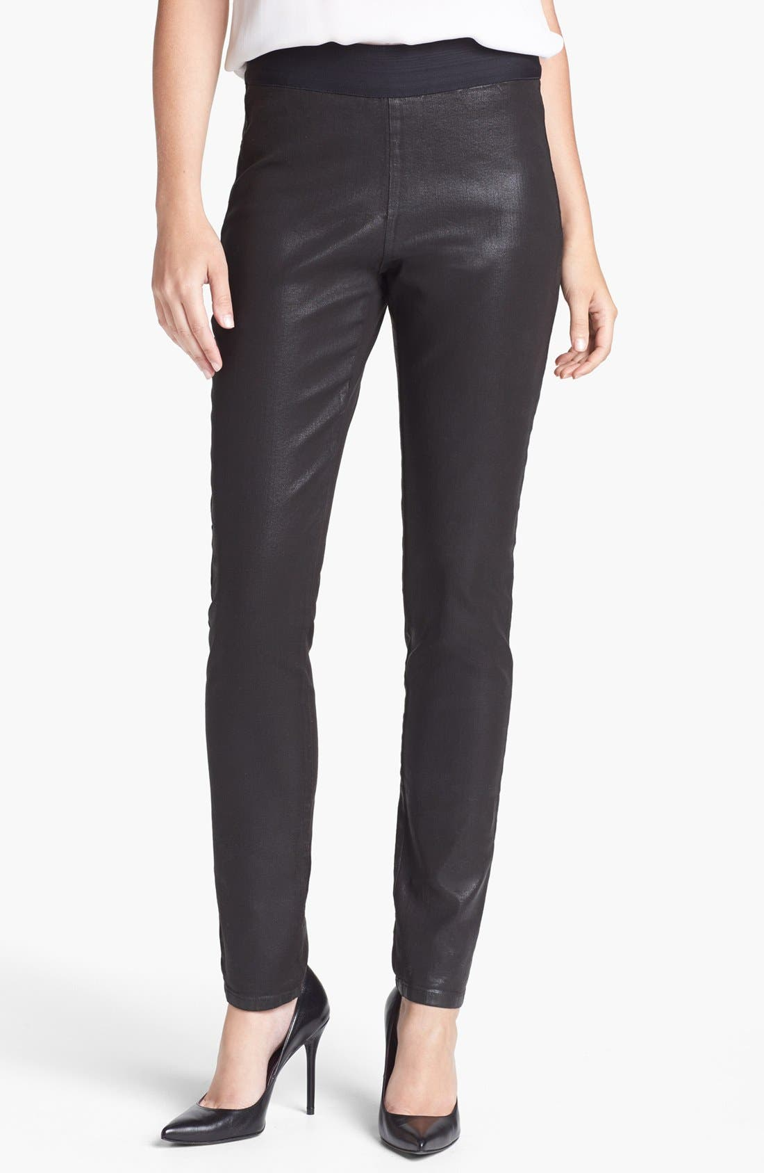 Main Image - NYDJ 'Gia' Coated Stretch Pull-On Pants