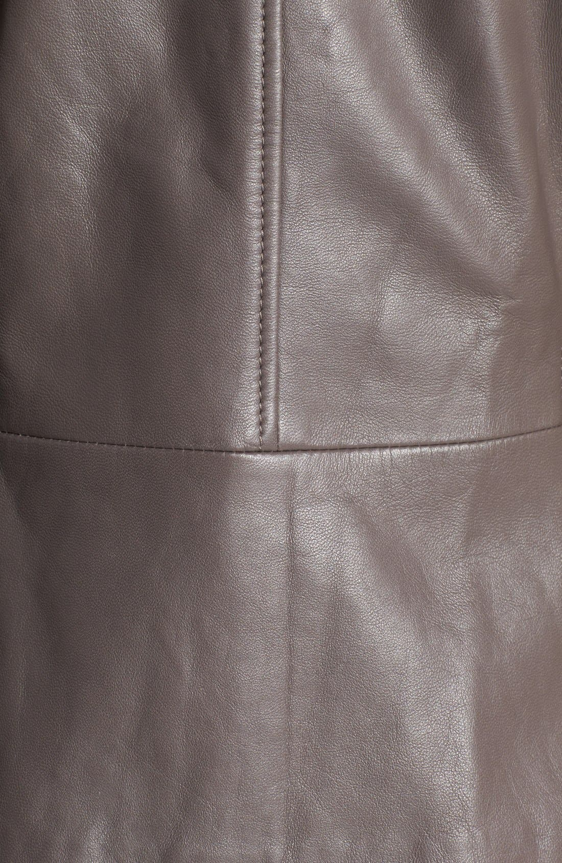 Alternate Image 3  - Hinge® Hooded Leather Jacket