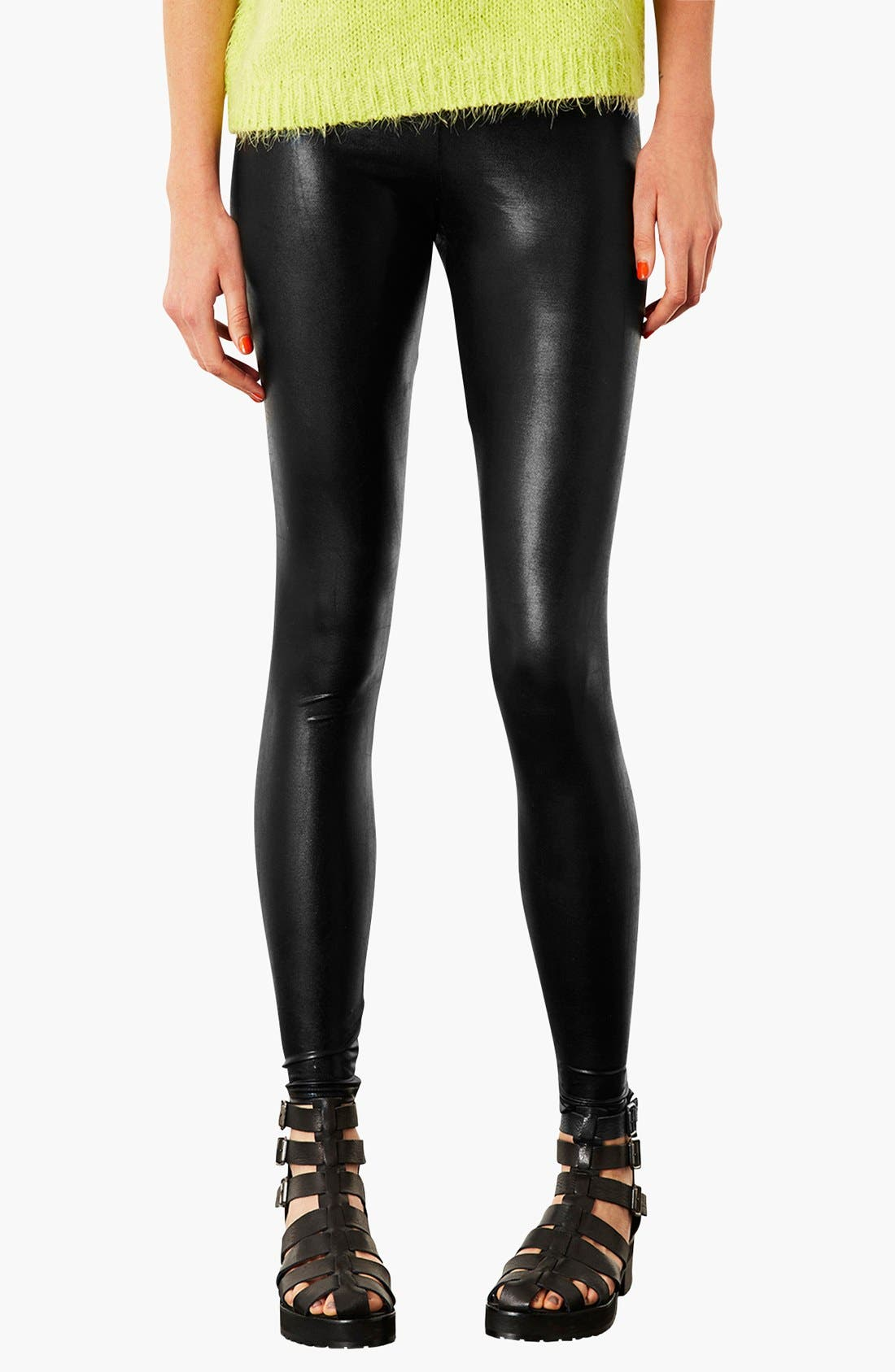 Alternate Image 1 Selected - Topshop High Shine Leggings