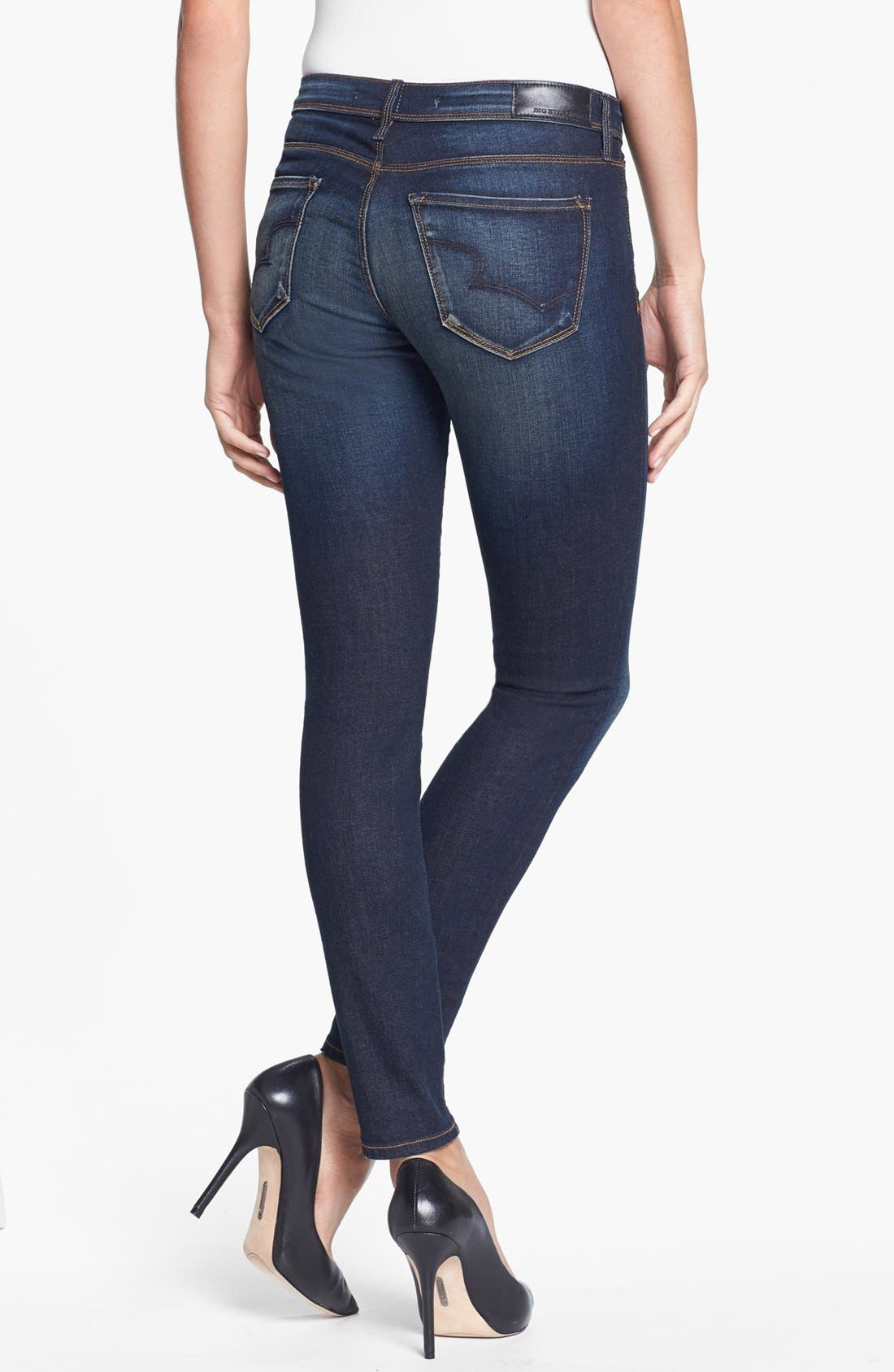 Alternate Image 2  - Big Star 'Alex' Stretch Skinny Jeans (Valencia) (Petite)