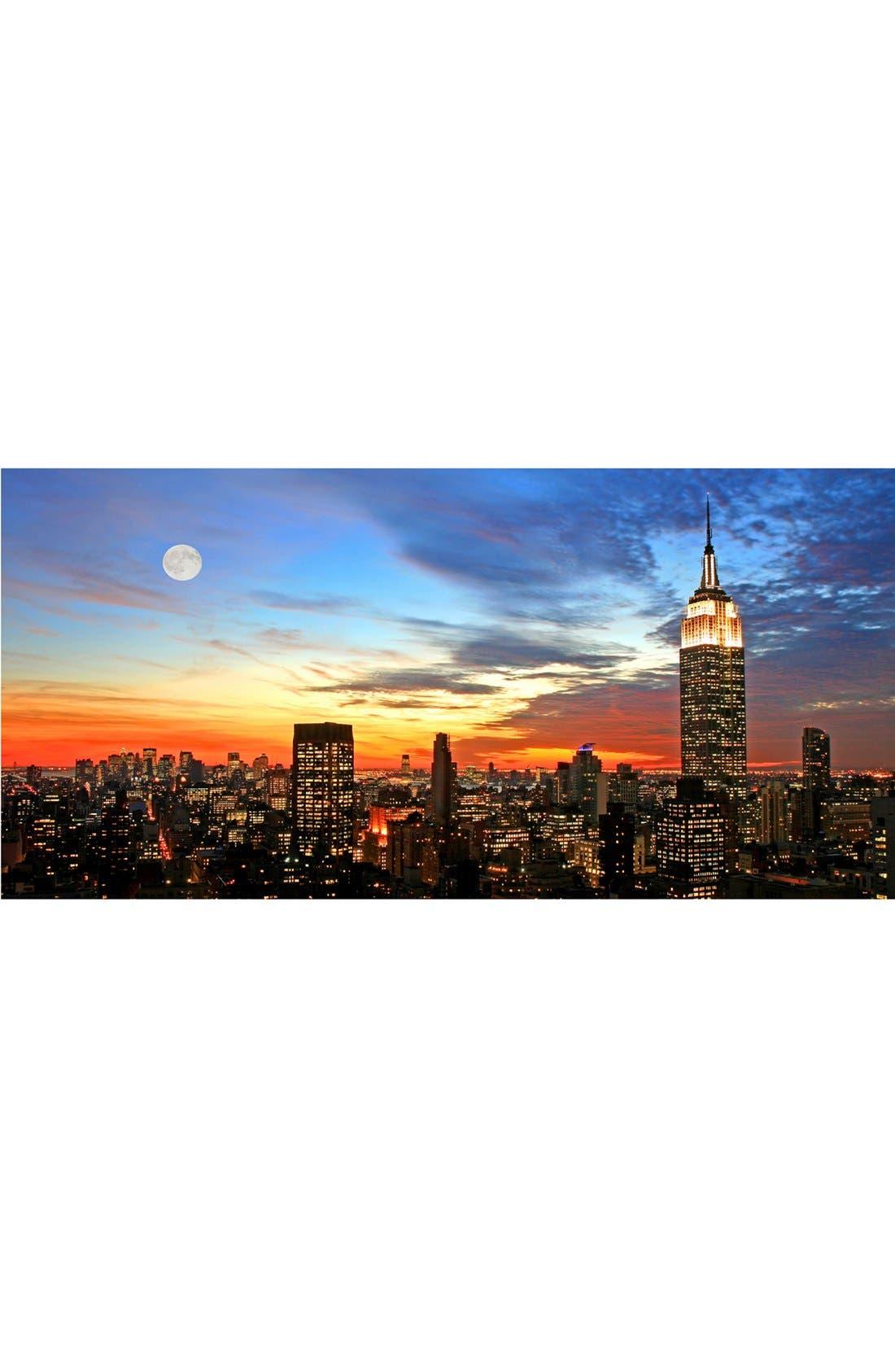 Alternate Image 1 Selected - Wallpops 'City Sunset - Mega Panoramic' Wall Art