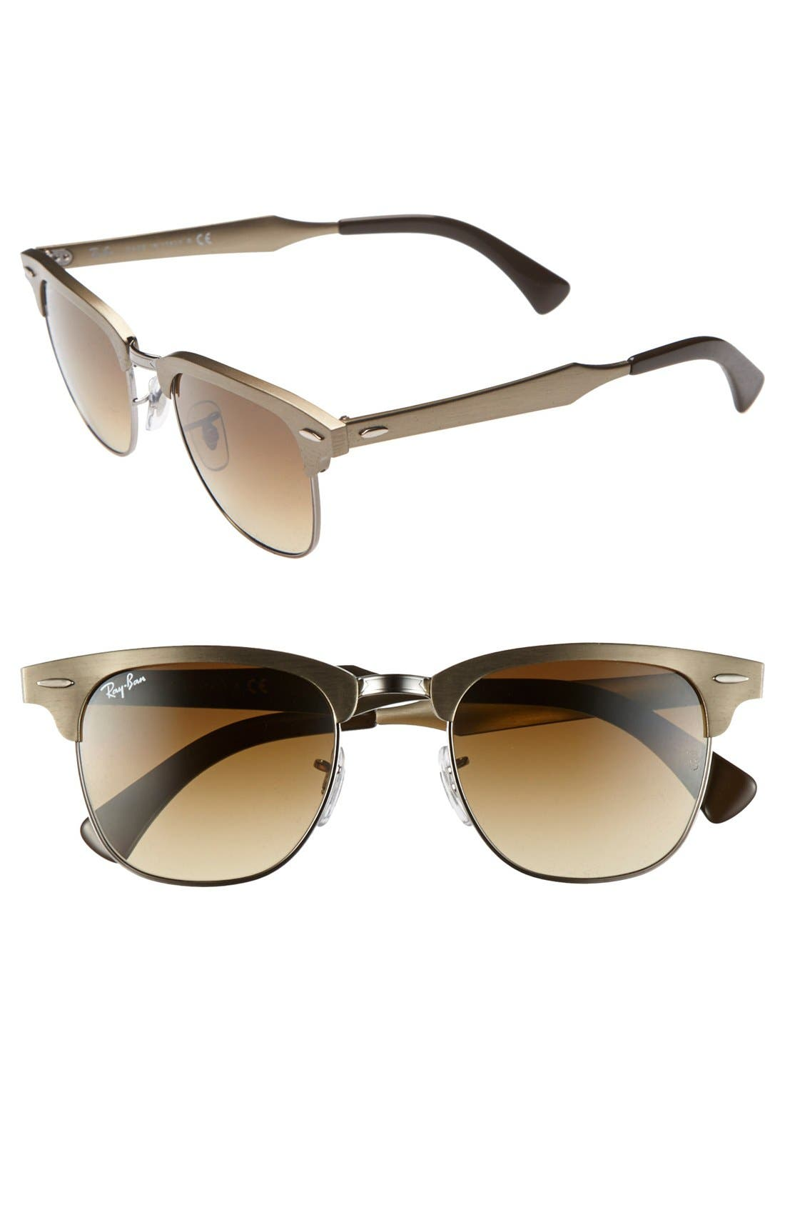 Main Image - Ray-Ban 'Clubmaster' 49mm Sunglasses