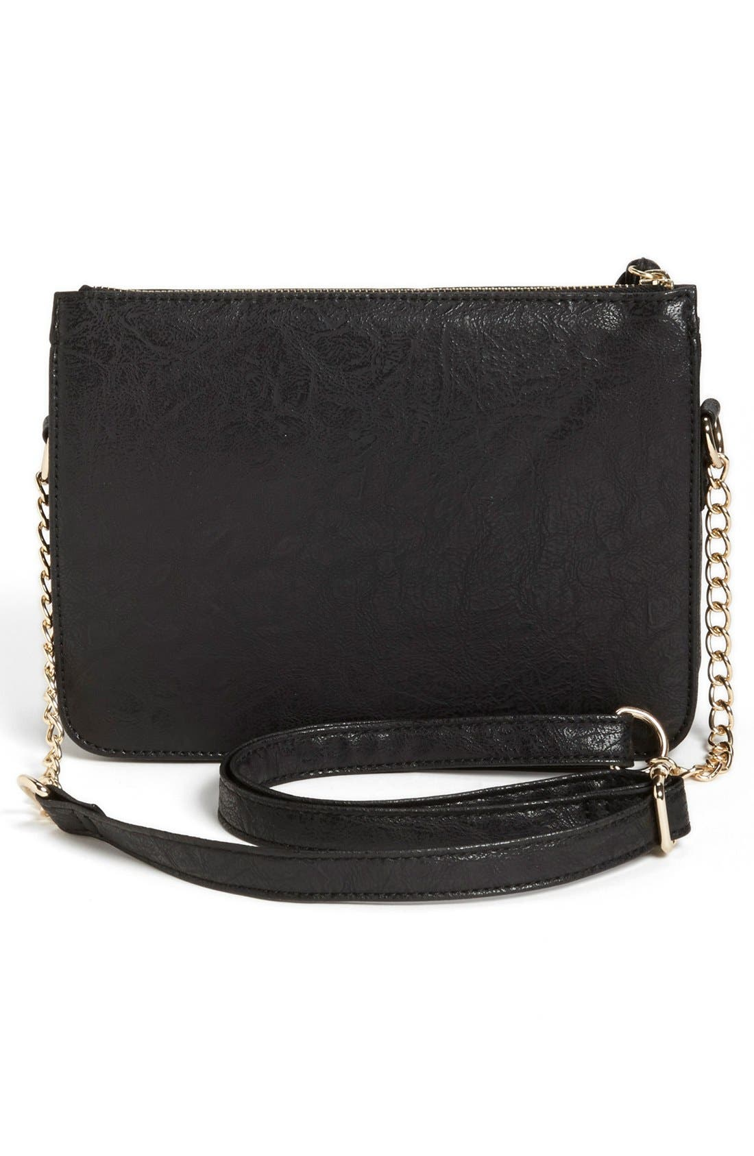 Alternate Image 4  - Cesca Faux Leather Crossbody Bag (Juniors) (Online Only)