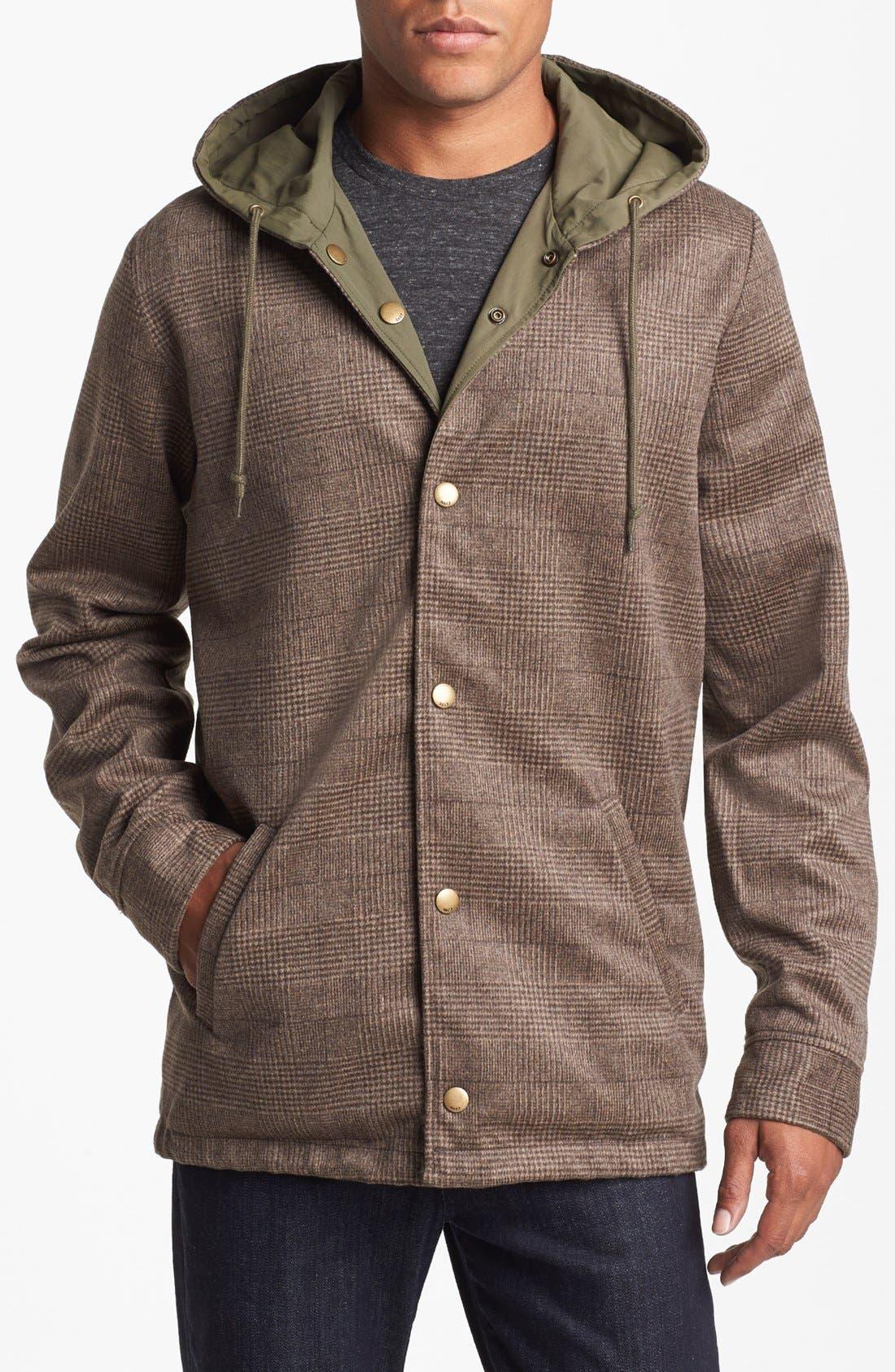 Alternate Image 1 Selected - Obey 'Harken' Reversible  Hooded Jacket