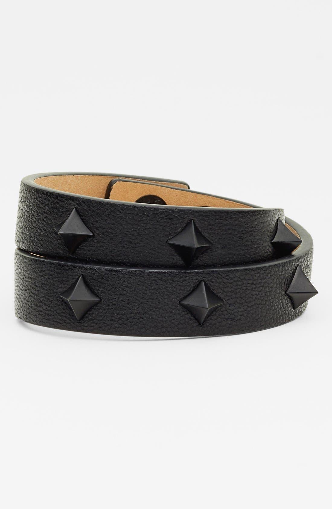 Main Image - Vince Camuto 'Tour of Duty' Studded Leather Wrap Bracelet