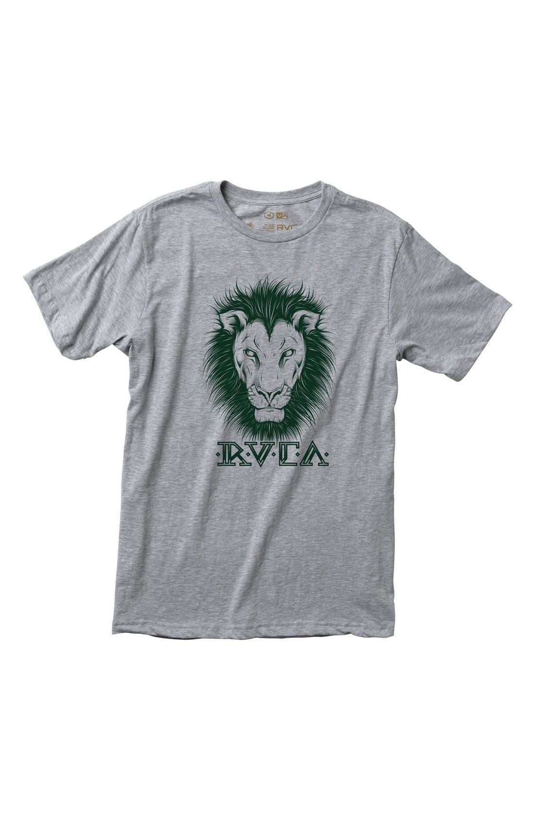 Alternate Image 1 Selected - RVCA 'Lions' T-Shirt (Big Boys)