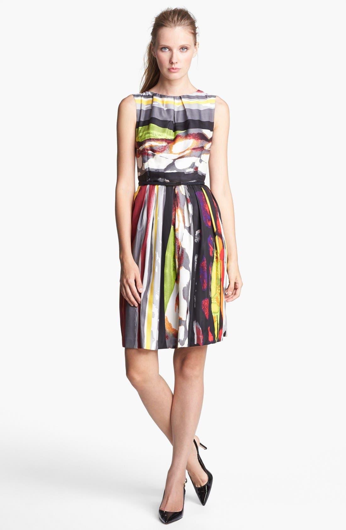 Alternate Image 1 Selected - Ellen Tracy Print Fit & Flare Dress