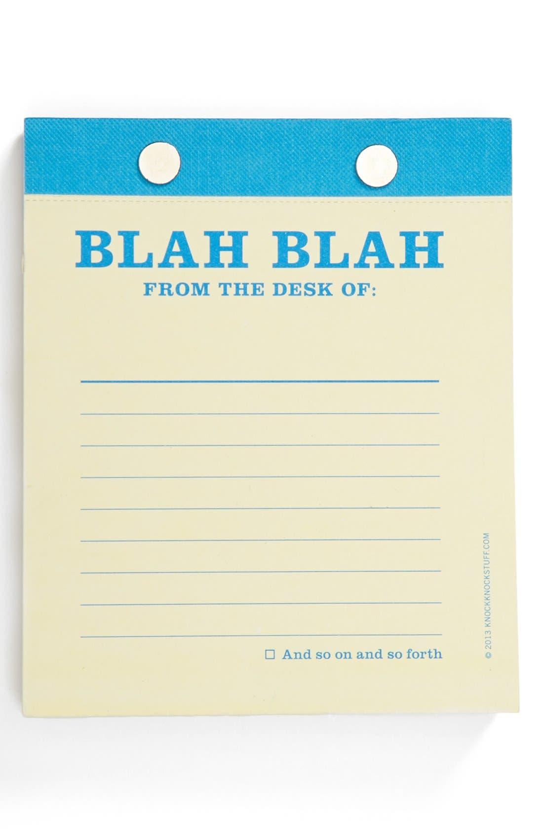 Main Image - Knock Knock 'Blah Blah' Desktop Notepad