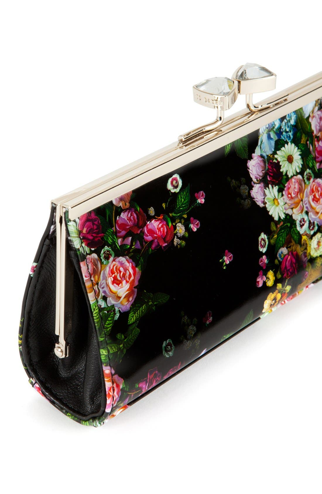 Alternate Image 3  - Ted Baker London Floral Print Crystal Bow Clutch